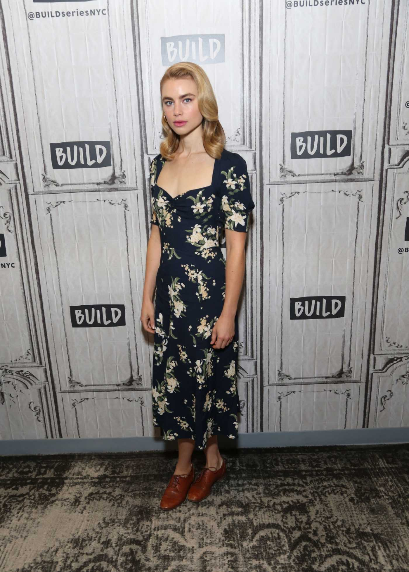 Lucy Fry Visits AOL Build Studio in New York City 09/17/2019