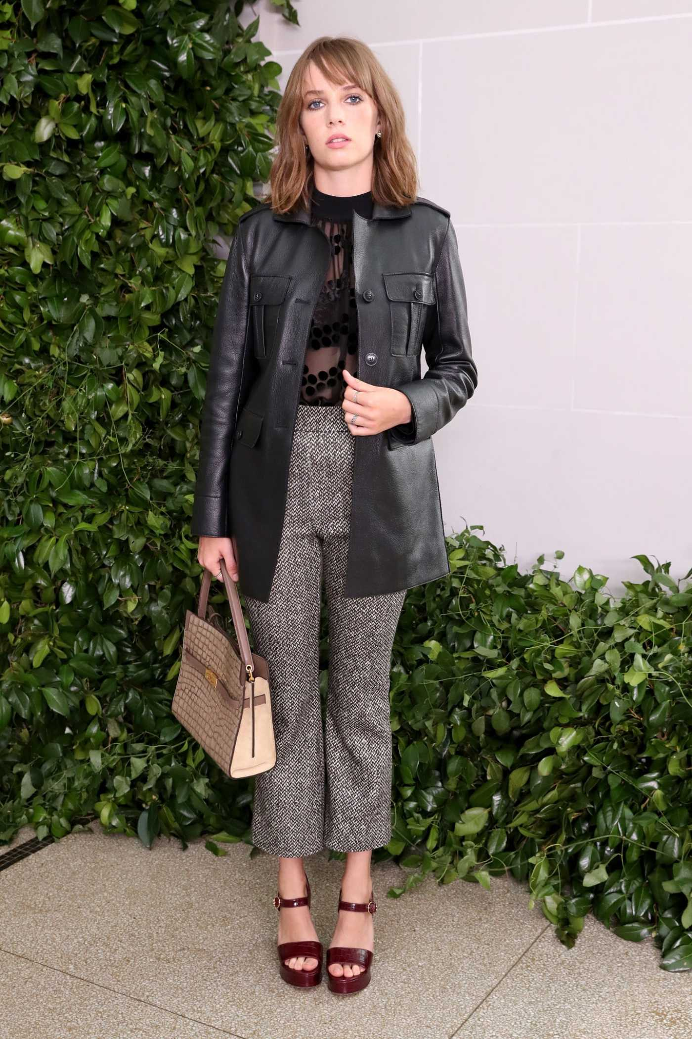 Maya Hawke Attends the Tory Burch Fashion Show During NYFW in New York 09/08/2019