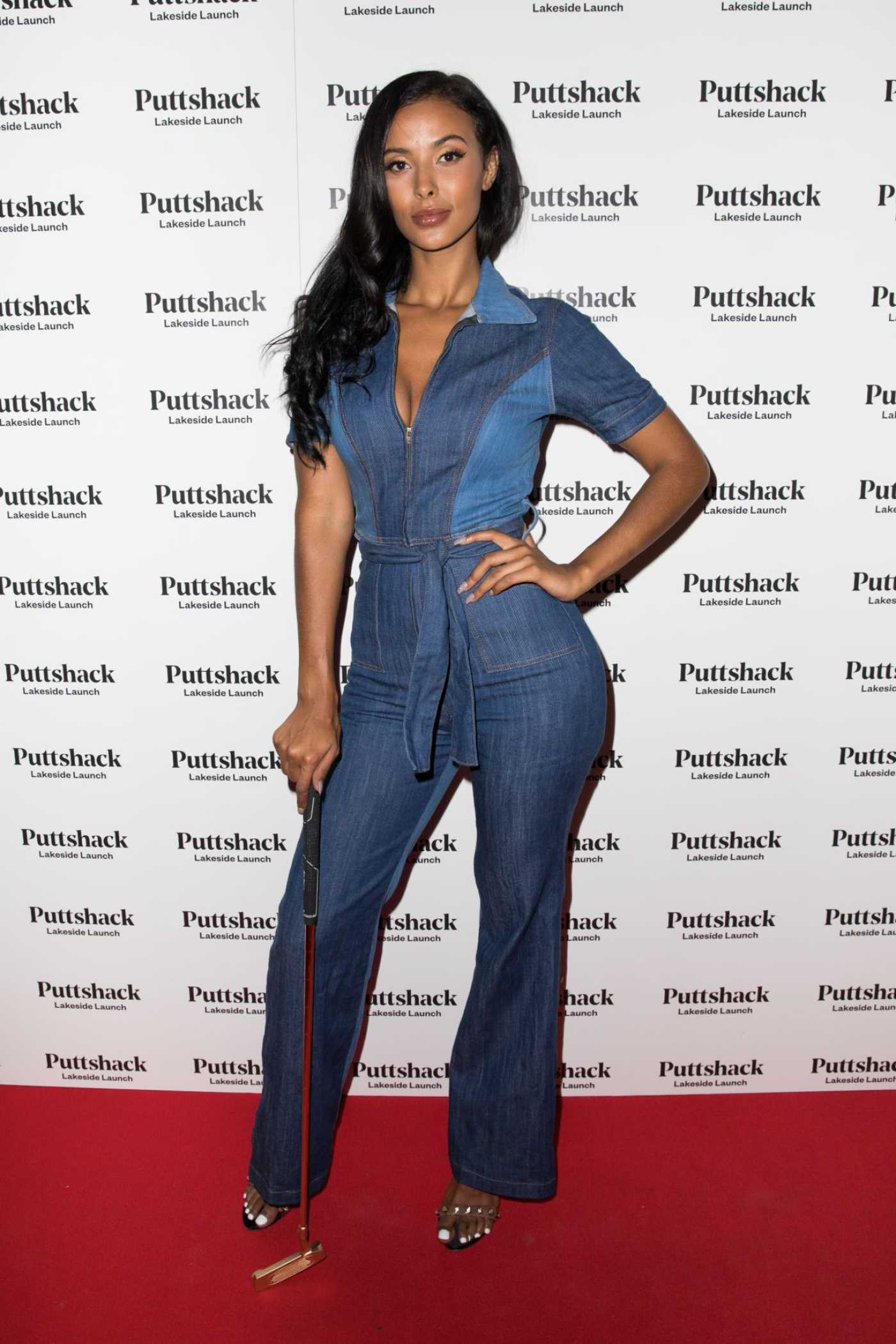 Maya Jama Attends Launch of Puttshack Lakeside in London 09/06/2019