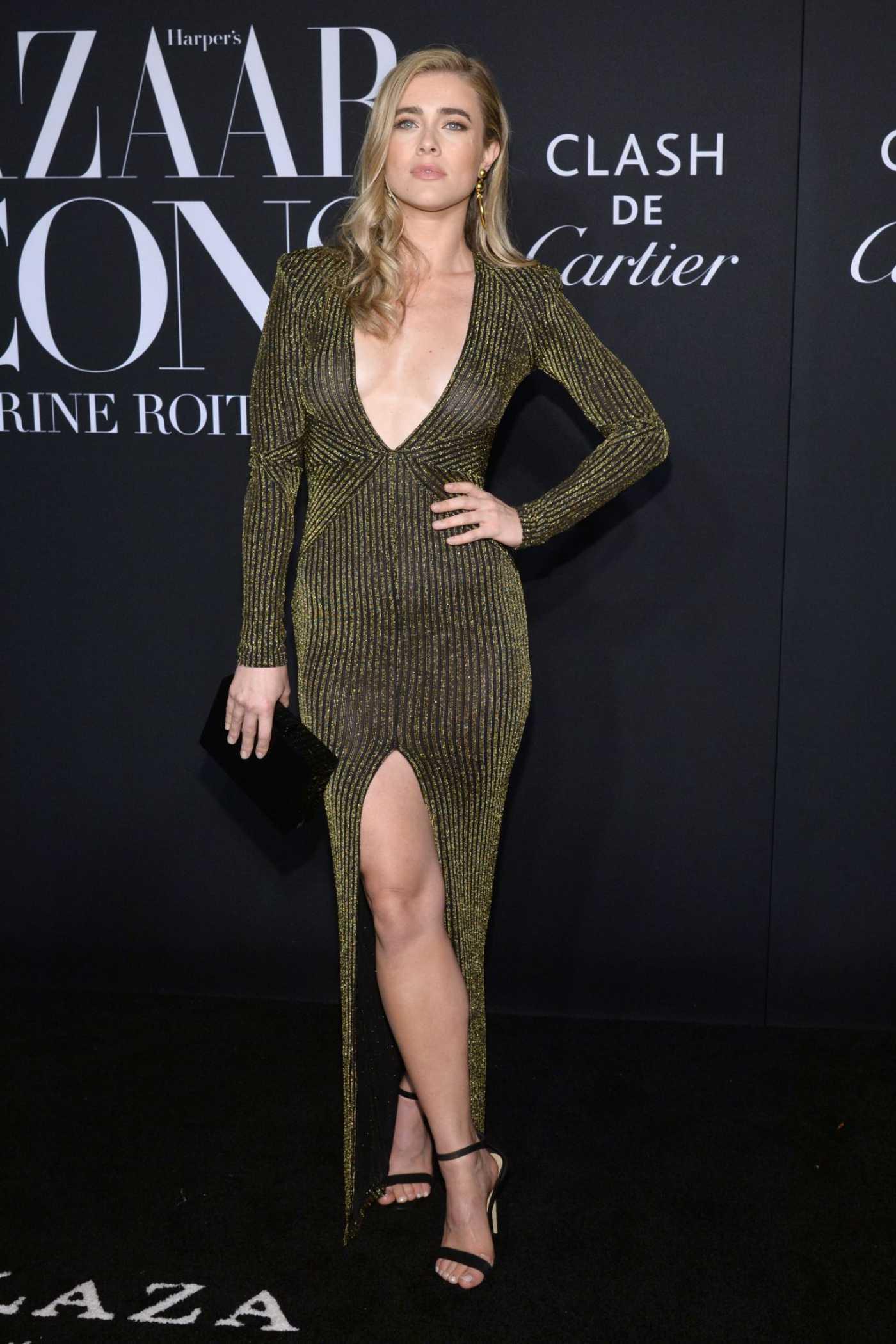 Melissa Roxburgh Attends Harper's Bazaar Icons Party in New York 09/06/2019