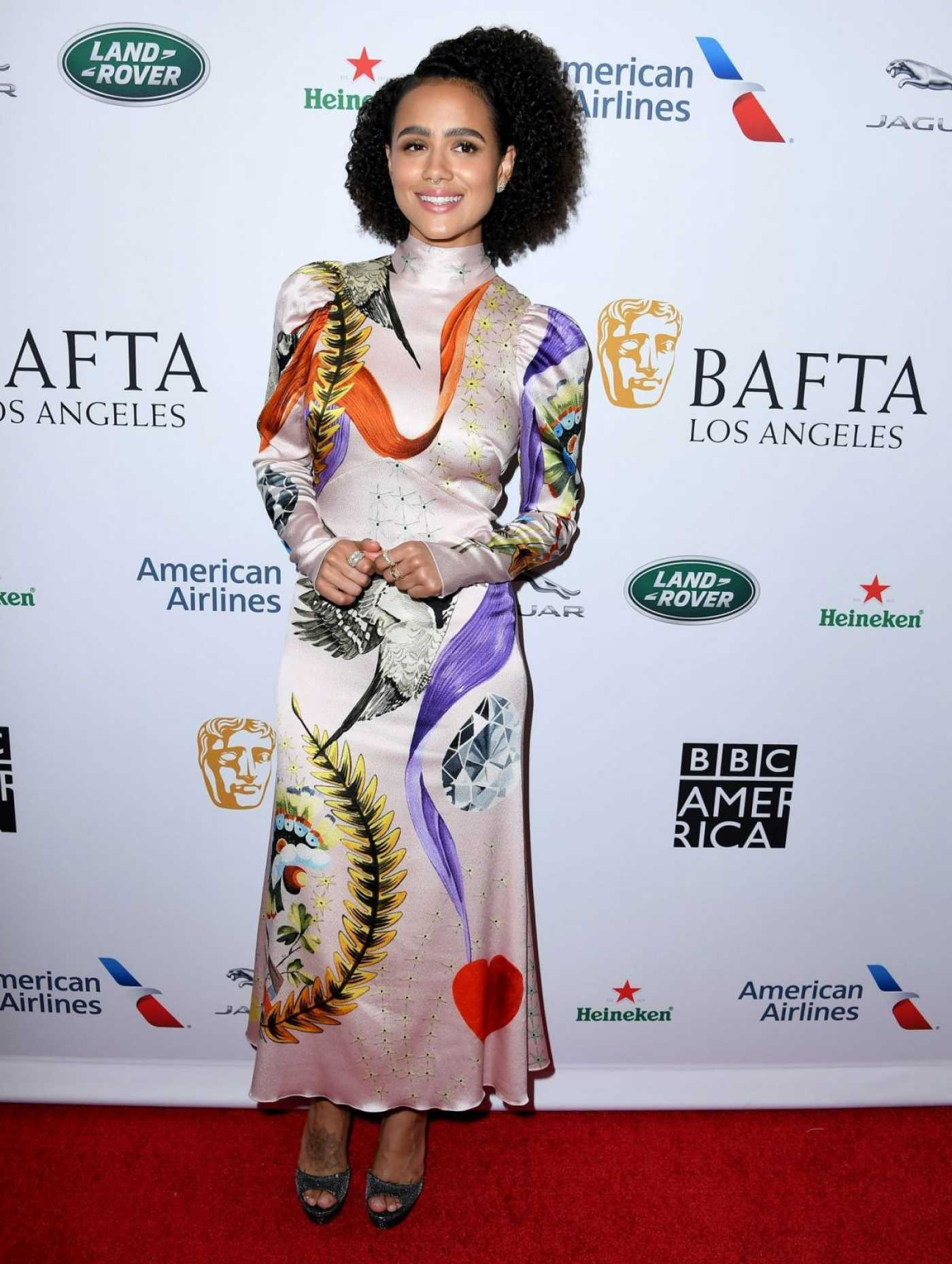 Nathalie Emmanuel Attends 2019 BAFTA Tea Party in Los Angeles 09/21/2019