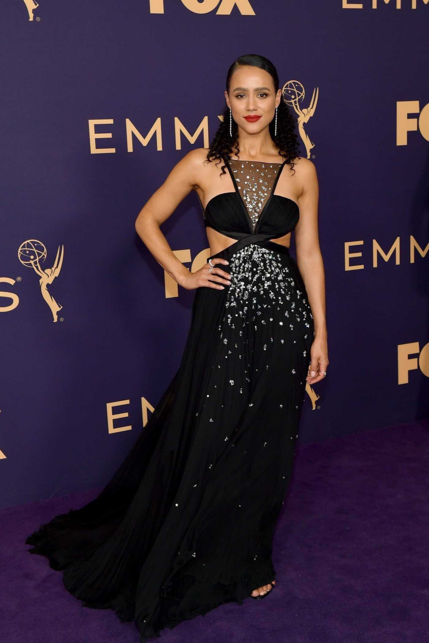 Nathalie Emmanuel Attends the 71st Emmy Awards at Microsoft Theater in Los Angeles 09/22/2019
