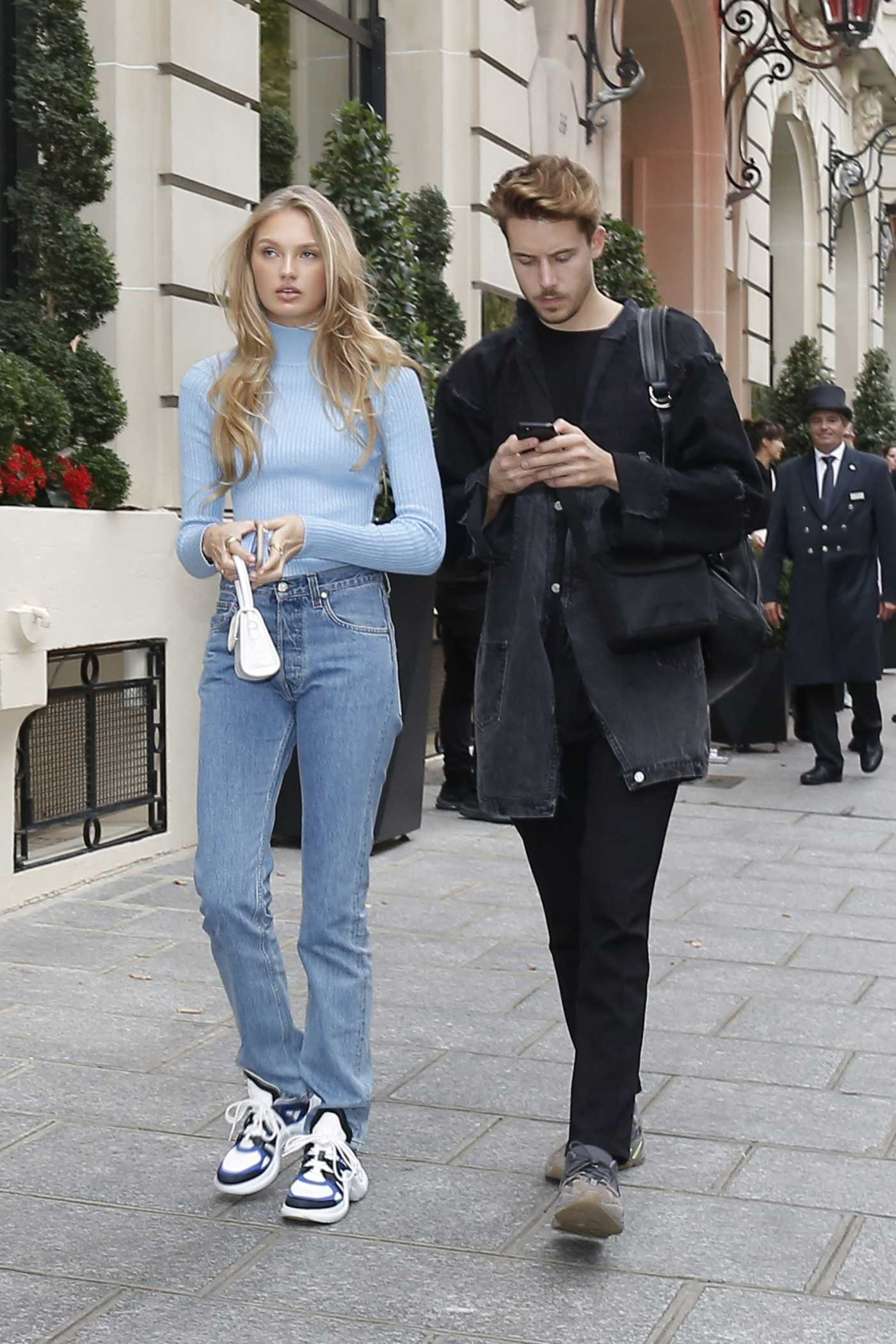 Romee Strijd in a Blue Turtleneck Was Seen Out in Paris 09/25/2019