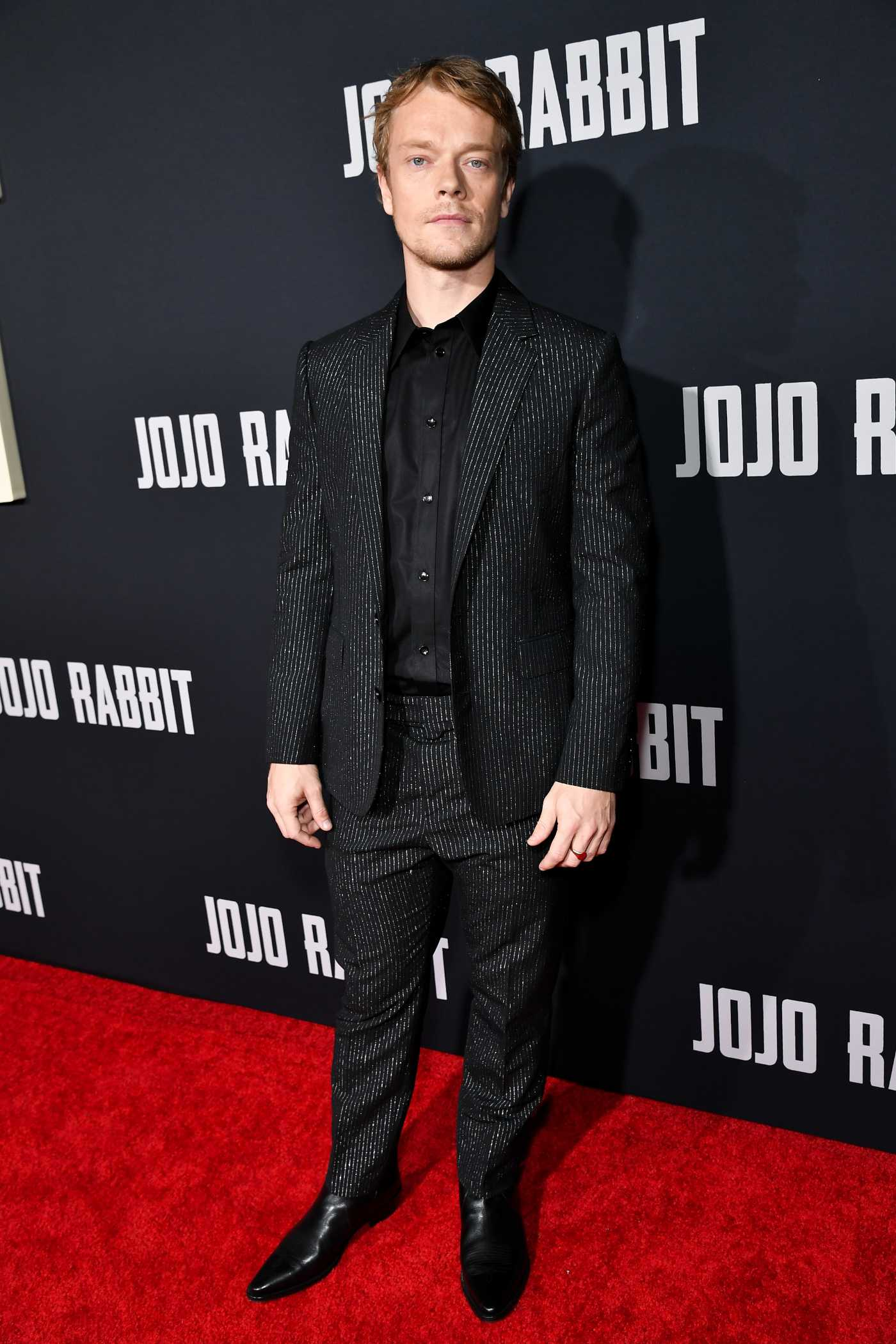 Alfie Allen Attends Jojo Rabbit Premiere in Los Angeles 10/15/2019
