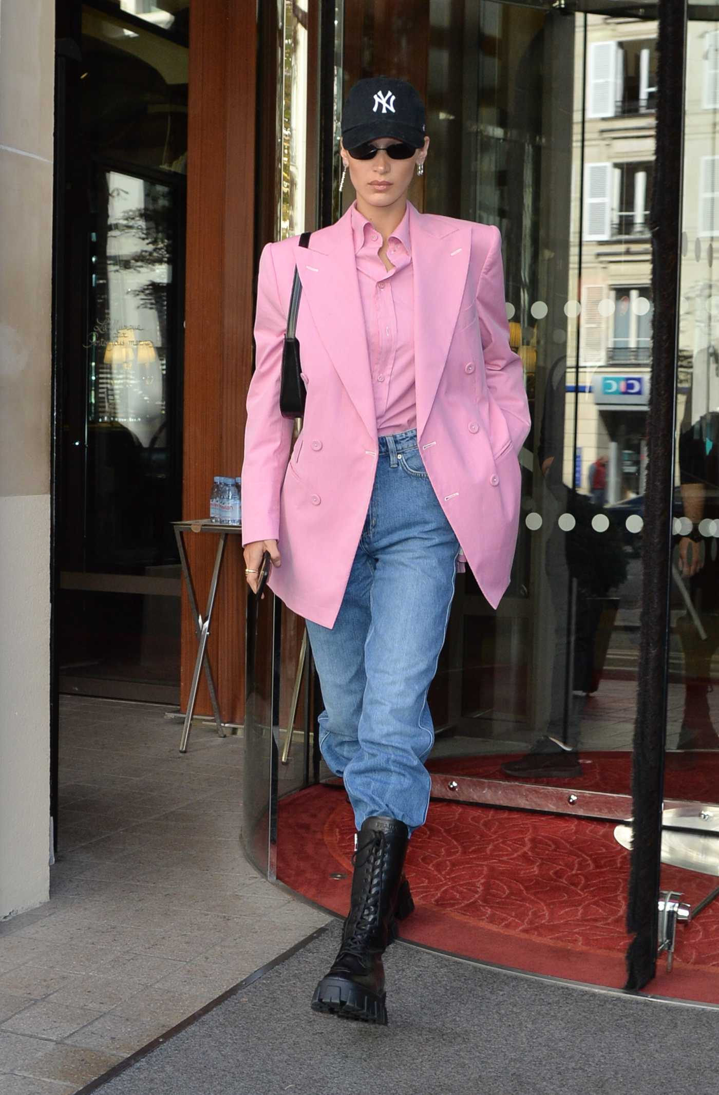Bella Hadid in a Purple Blazer Was Seen Out in Paris 09/30/2019