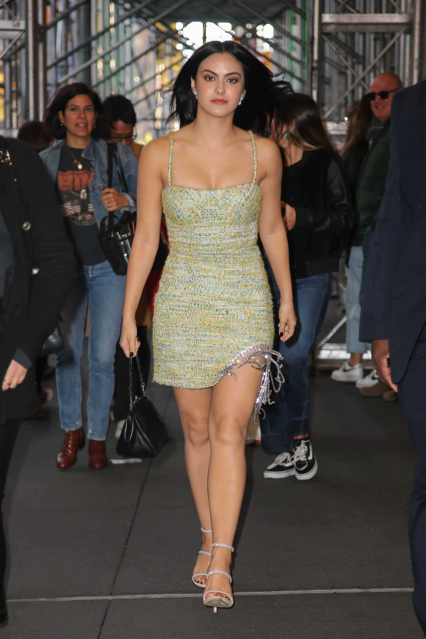Camila Mendes in a Short Dress Was Seen Out in NY 10/23/2019