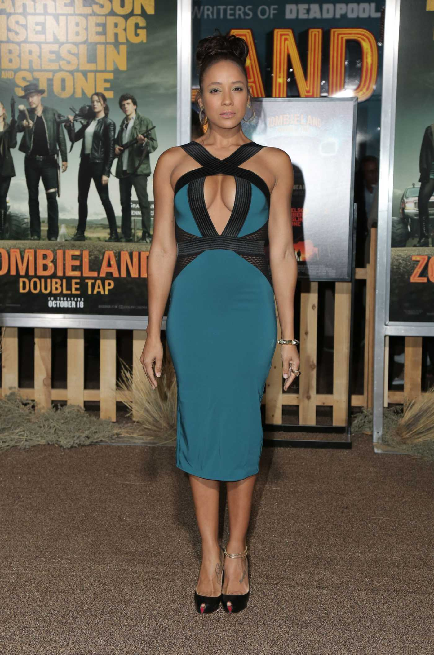 Dania Ramirez Attends the Zombieland: Double Tap Premiere at Regency Village Theater in Westwood 10/10/2019