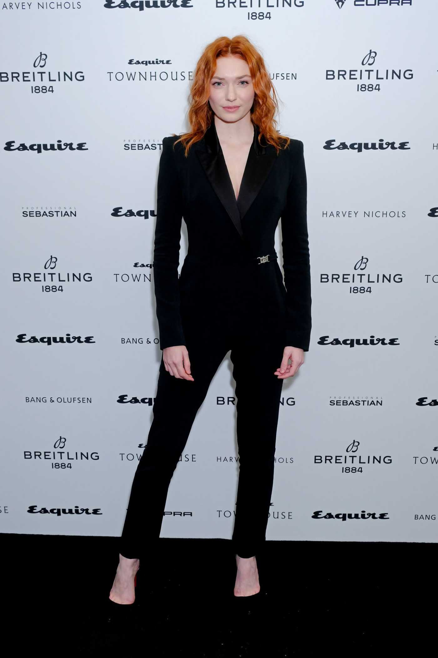 Eleanor Tomlinson Attends Esquire Townhouse with Breitling Launch in London 10/16/2019