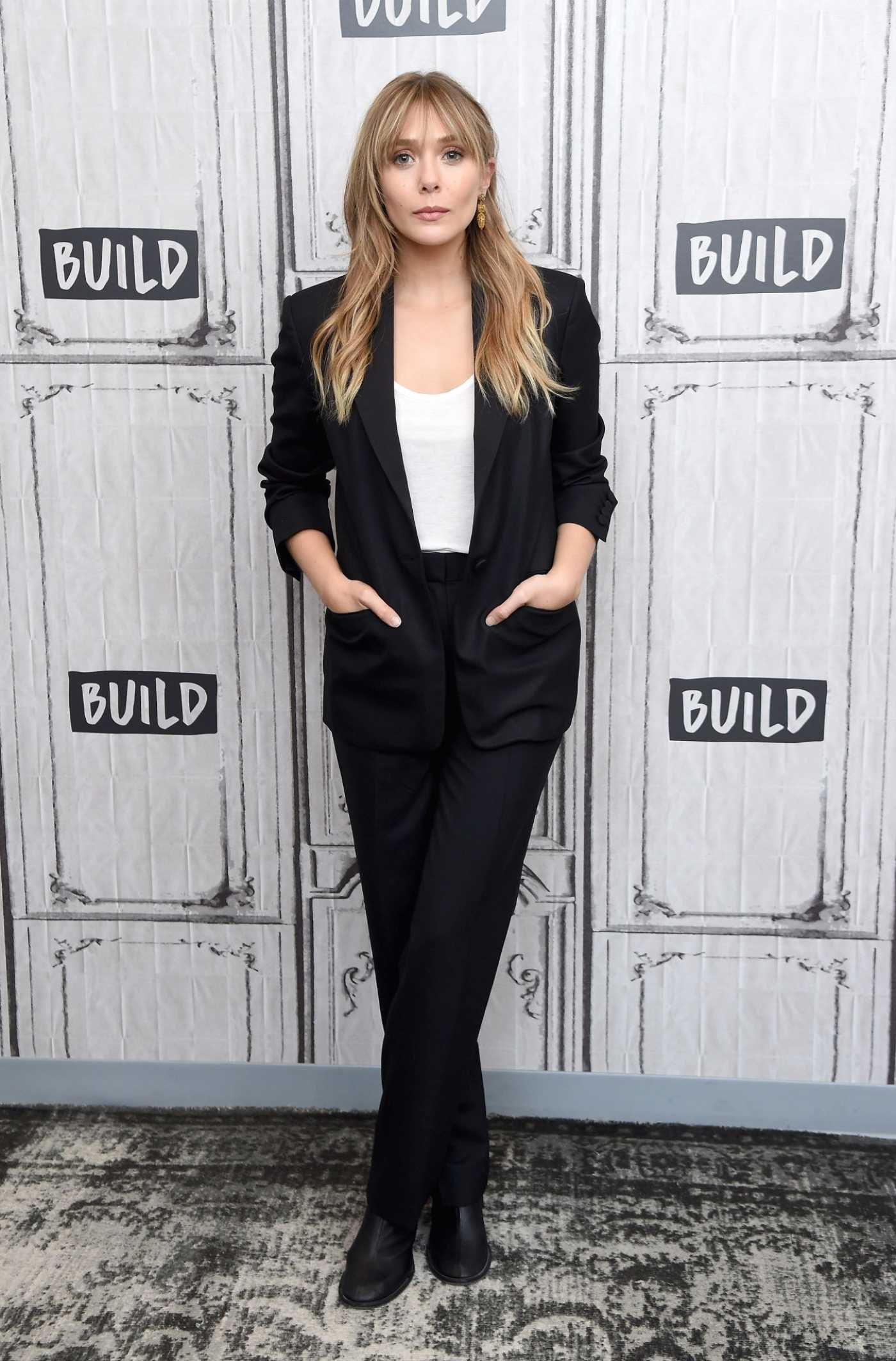 Elizabeth Olsen Visits AOL Build Studio in New York City 10/08/2019