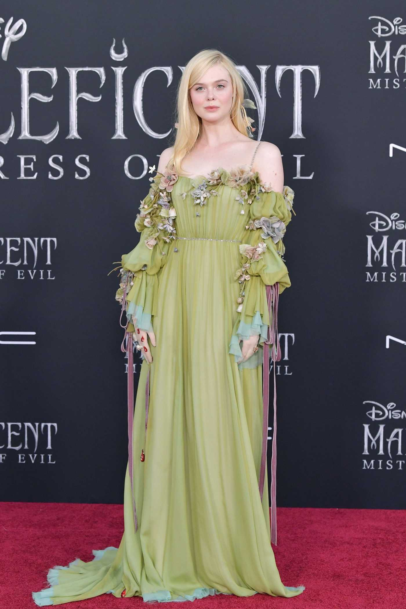 Elle Fanning Attends the Maleficent: Mistress of Evil Premiere at El Capitan Theatre in Los Angeles 09/30/2019