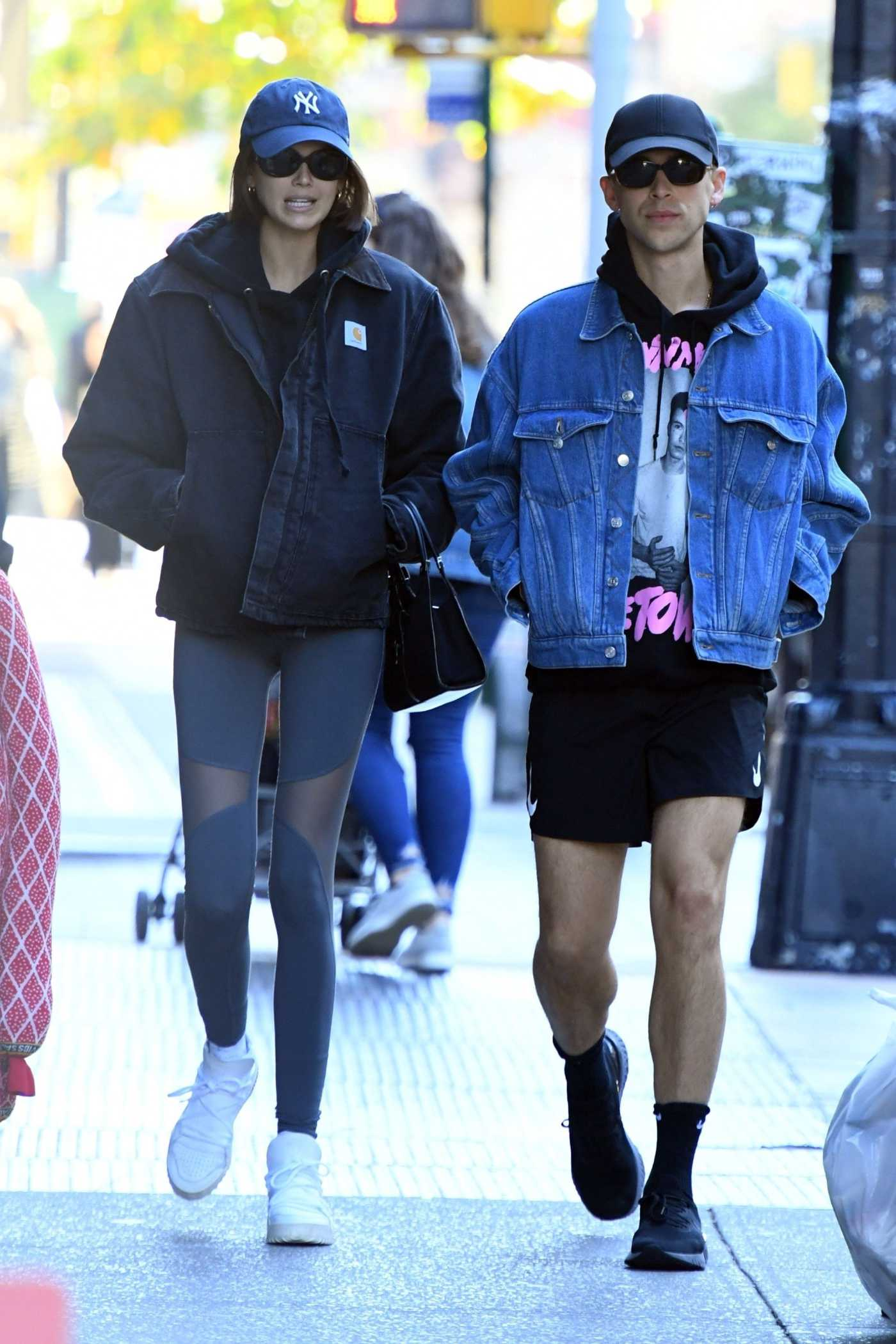 Kaia Gerber in a Gray Leggings Was Seen Out with Tommy Dorfman in NY 10/24/2019