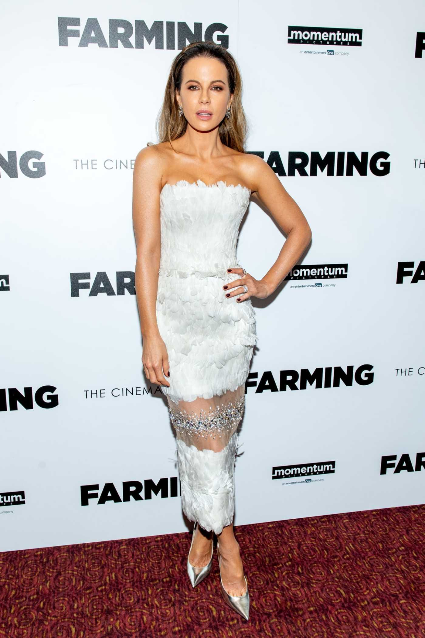Kate Beckinsale Attends the Farming Premiere of  in New York 10/22/2019