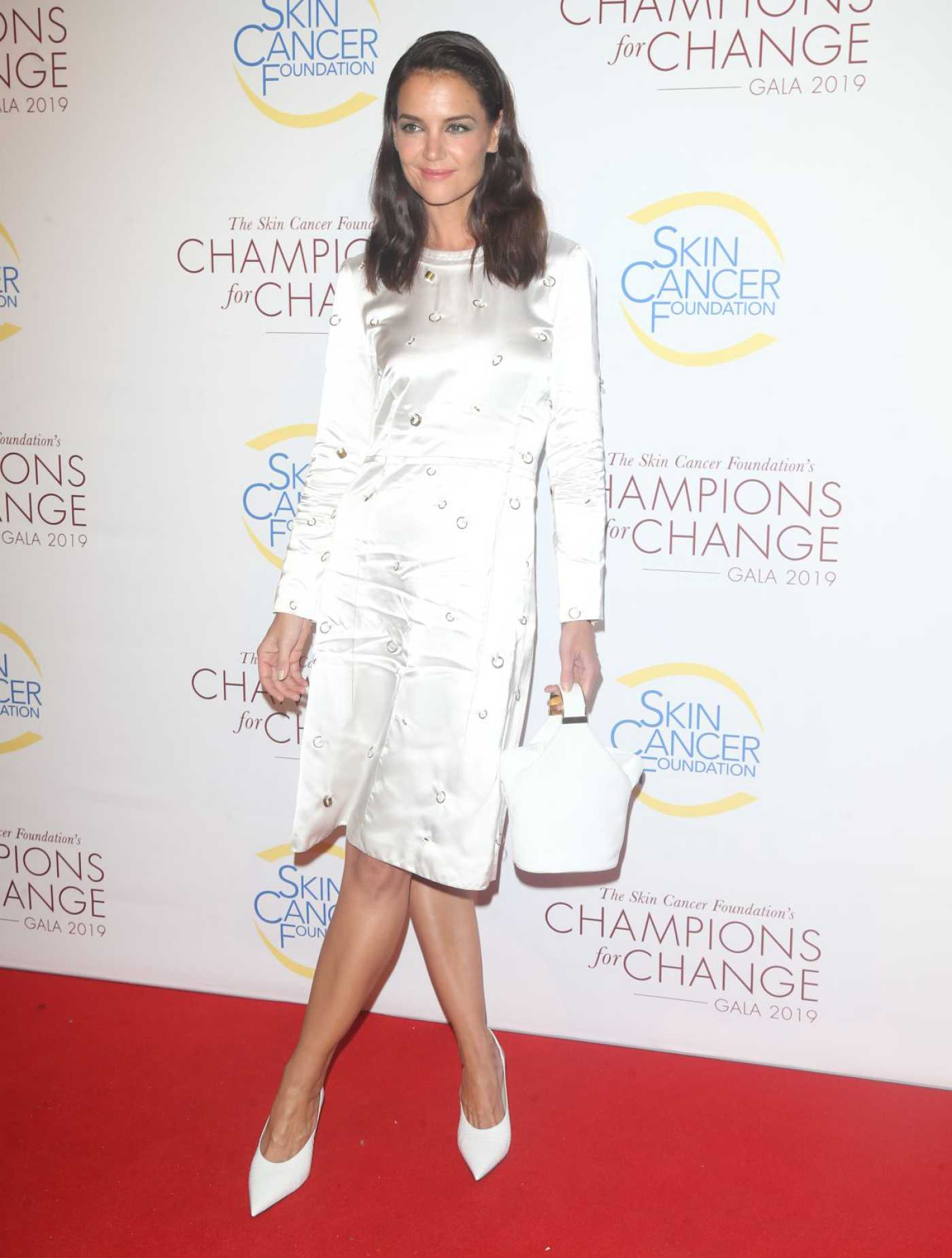 Katie Holmes Attends the Champions for Change Gala in New York 10/17/2019