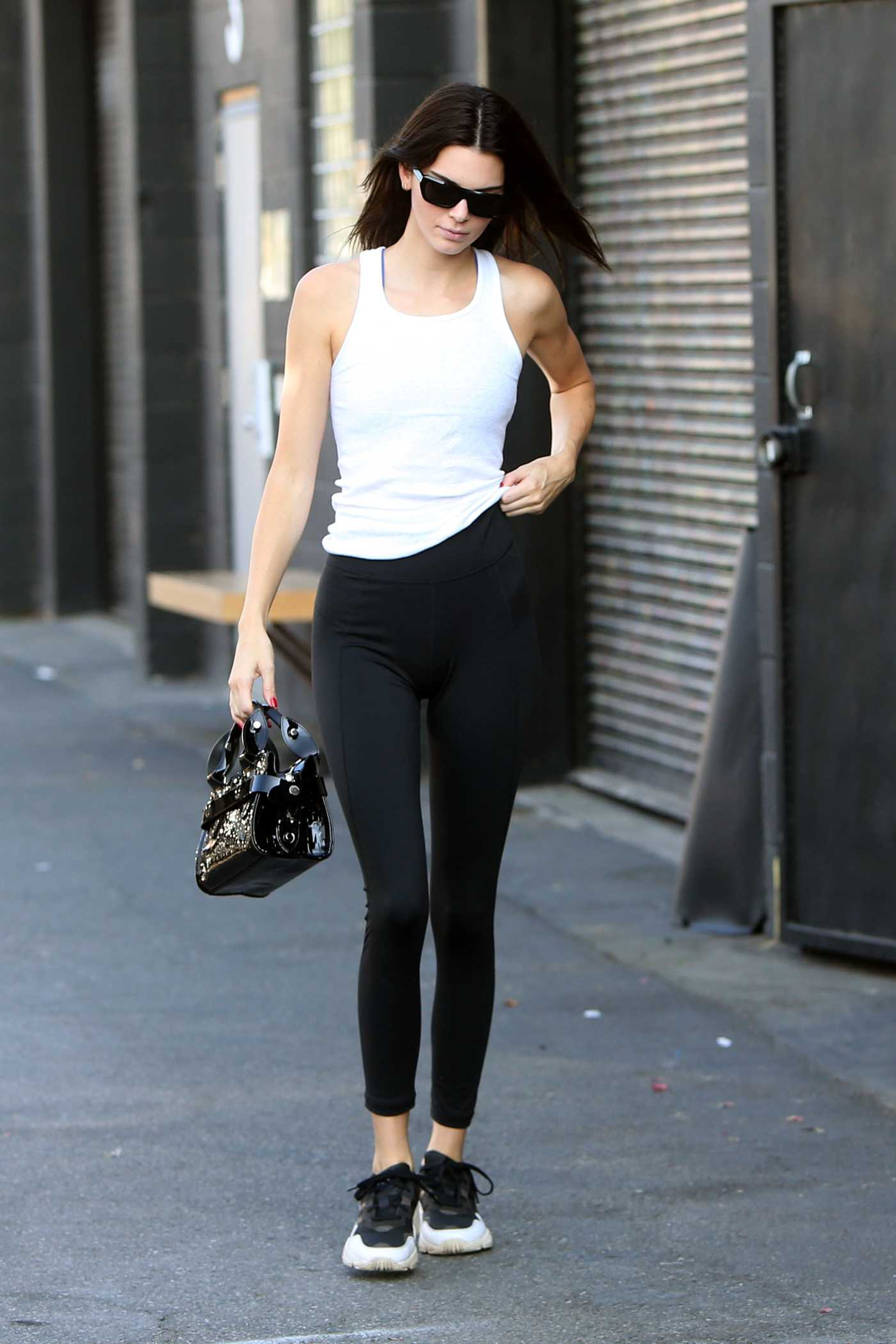 Kendall Jenner in a White Tank Top Was Seen Out in Los Angeles 10/09/2019