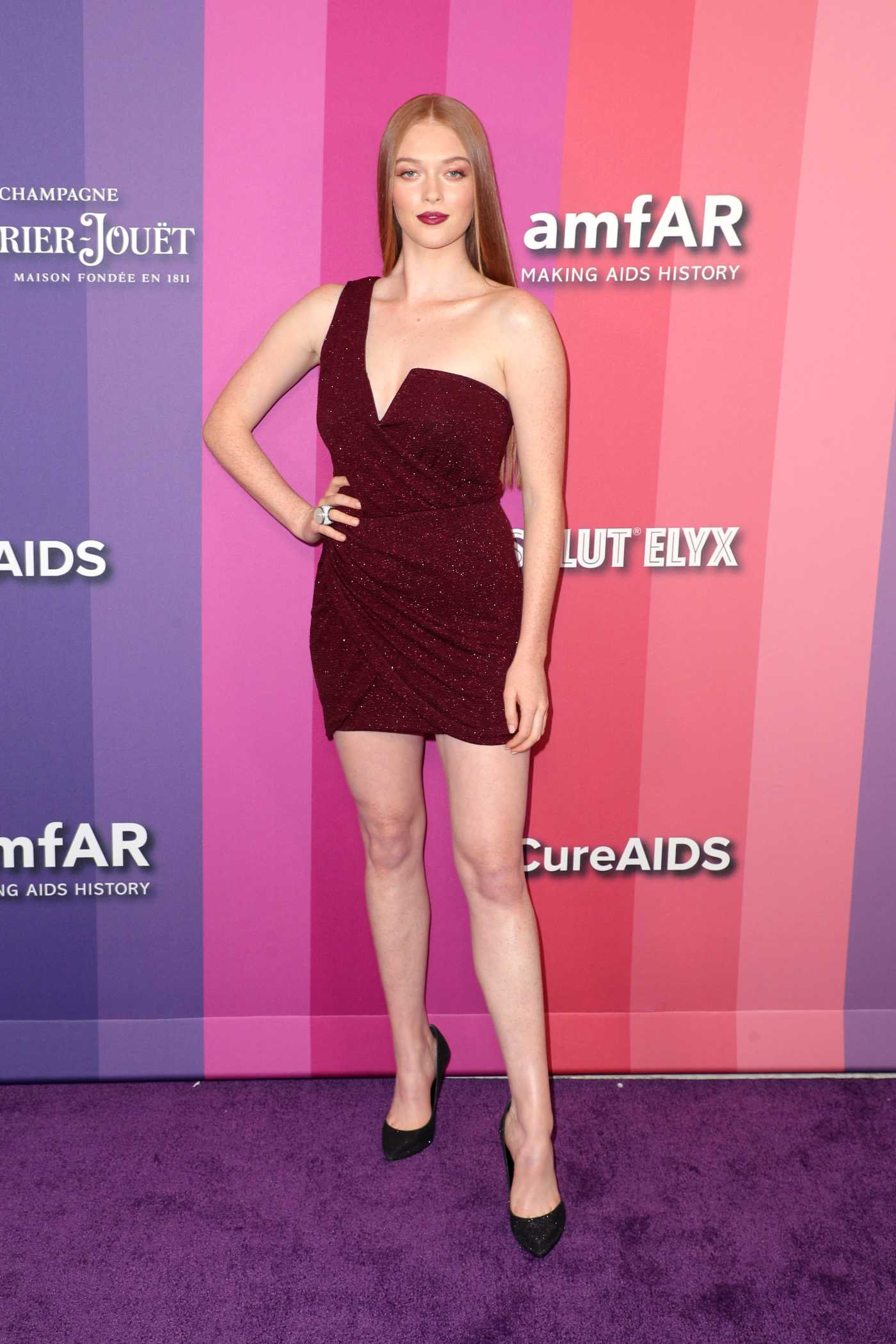 Larsen Thompson Attends 2019 amfAR Gala at Milk Studios in Los Angeles 10/09/2019