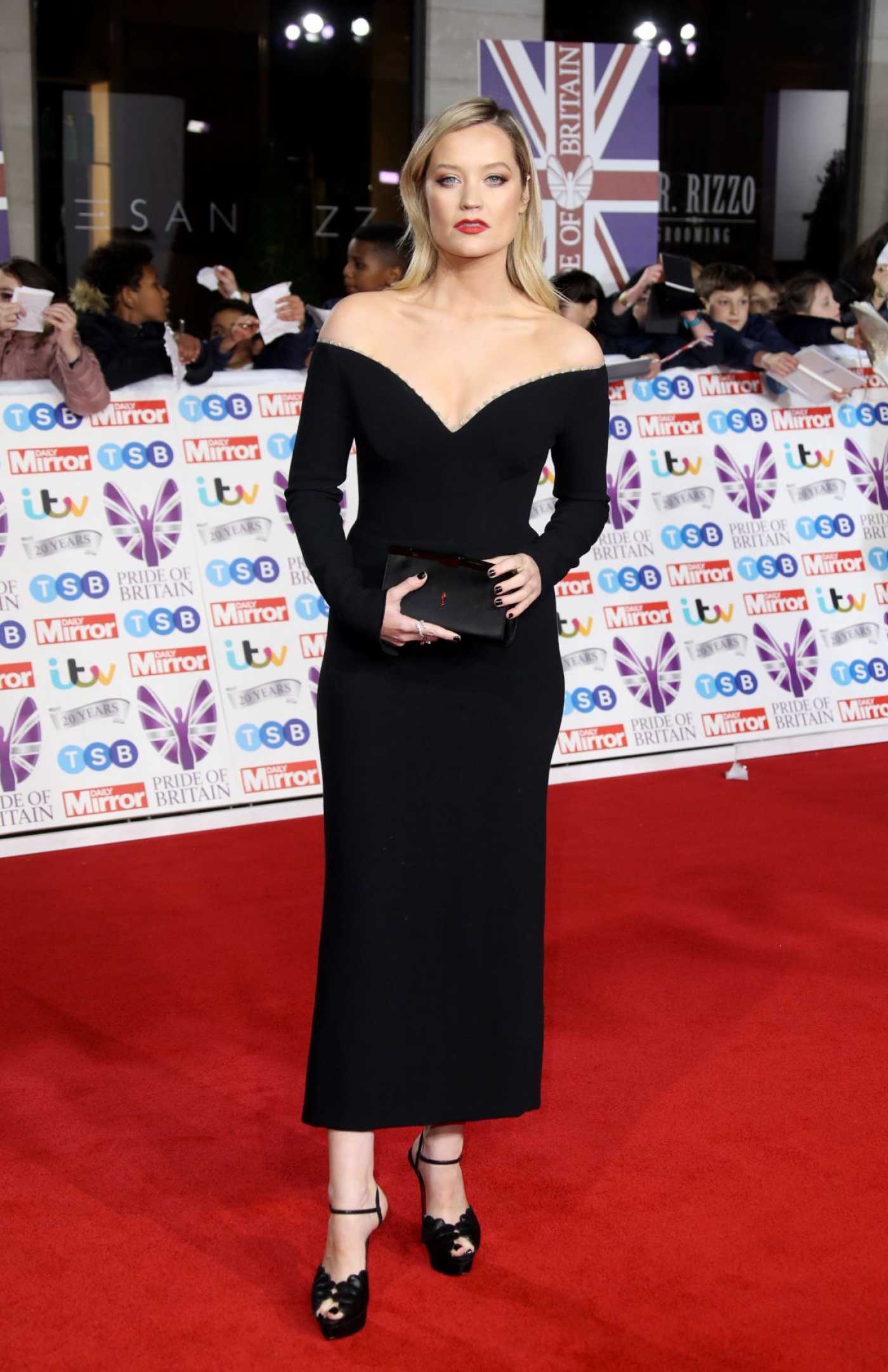 Laura Whitmore Attends 2019 Pride of Britain Awards in London 10/28/2019