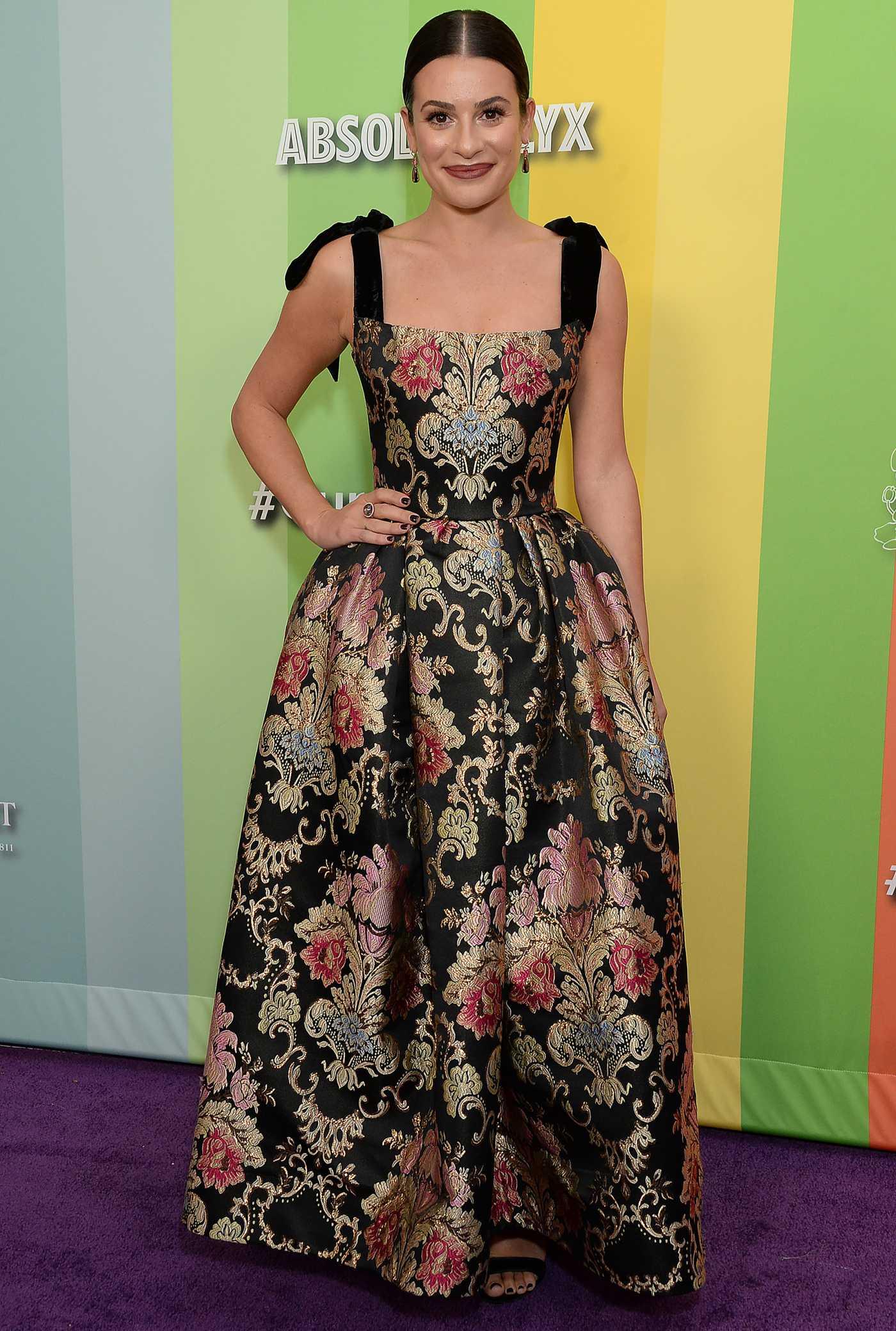 Lea Michele Attends 2019 amfAR Gala at Milk Studios in Los Angeles 10/09/2019