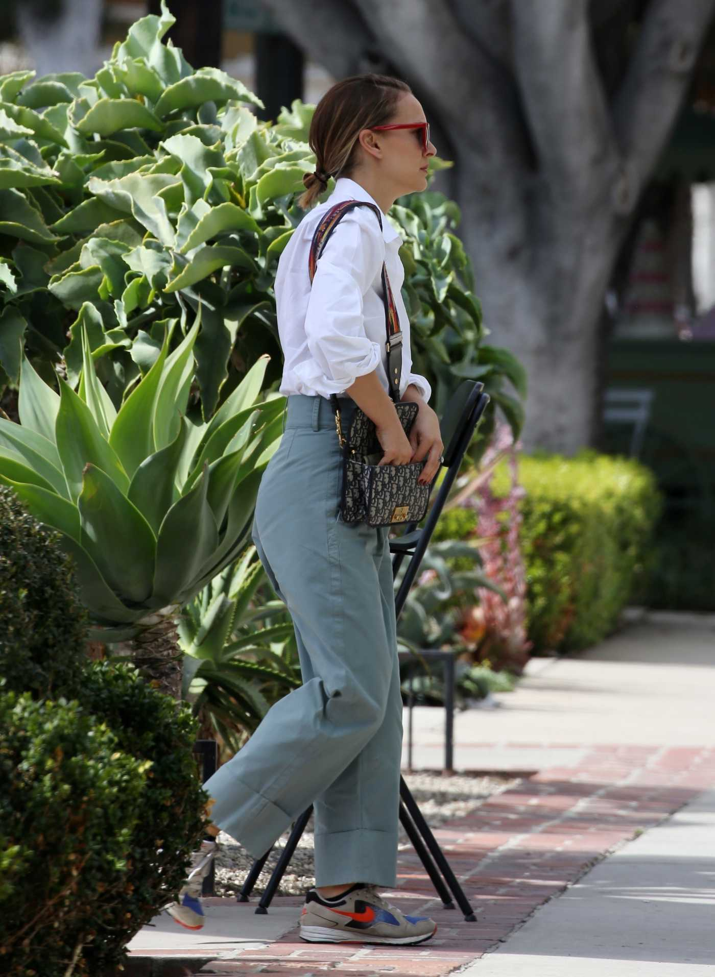 Natalie Portman in a White Shirt Was Seen Out in Los Angeles 10/16/2019