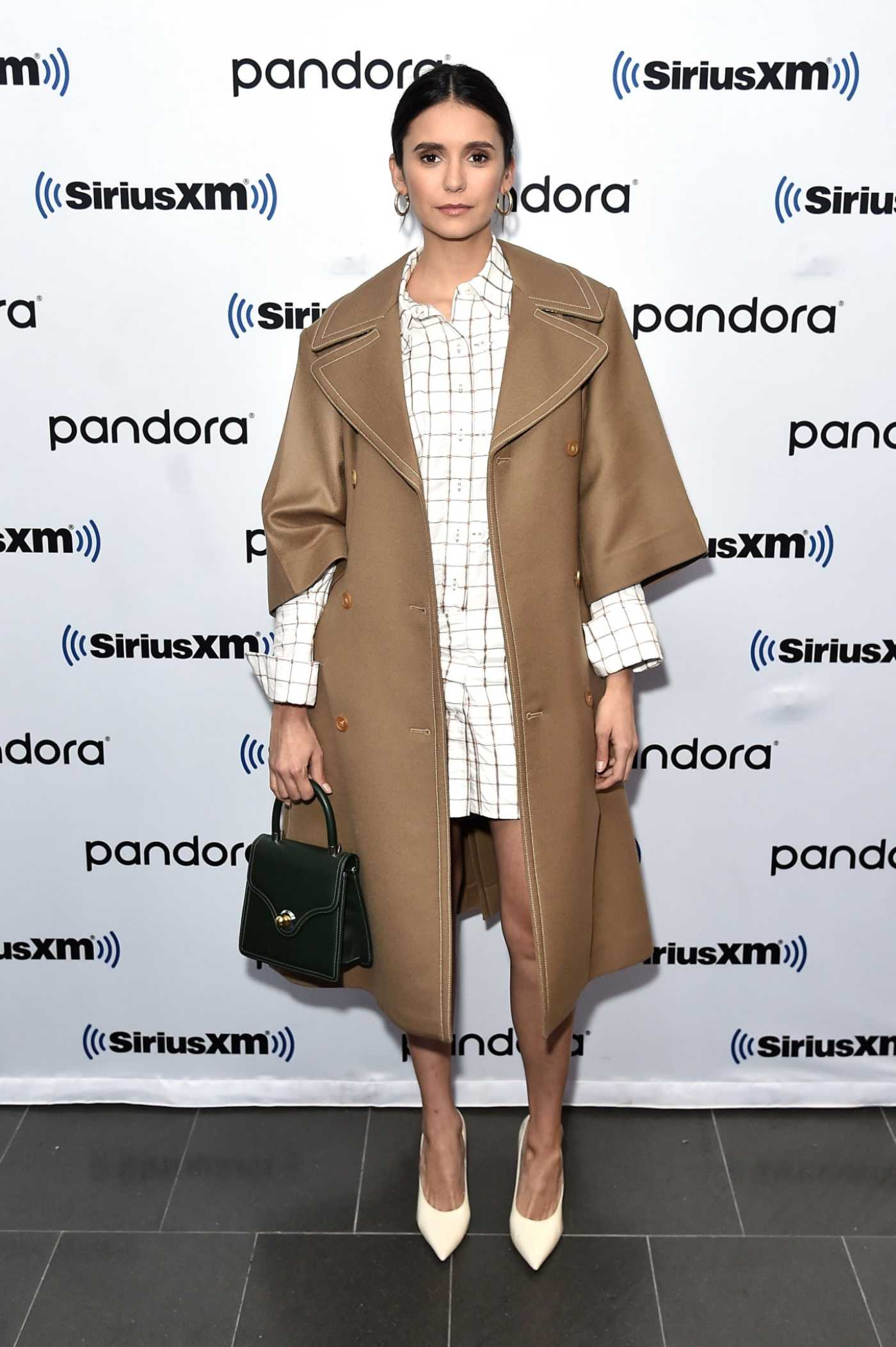 Nina Dobrev Visits SiriusXM Studios in New York City 10/07/2019