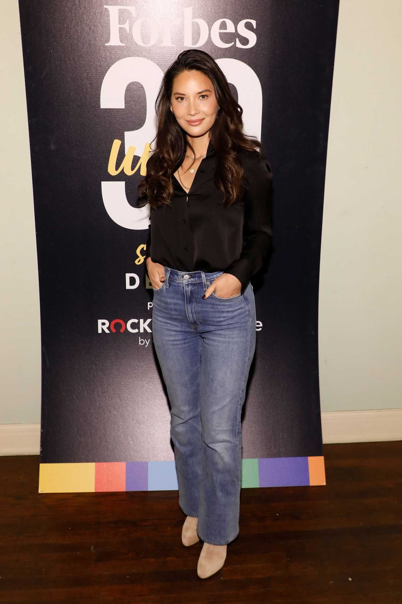 Olivia Munn Attends Forbes 30 Under 30 Summit in Detroit 10/28/2019