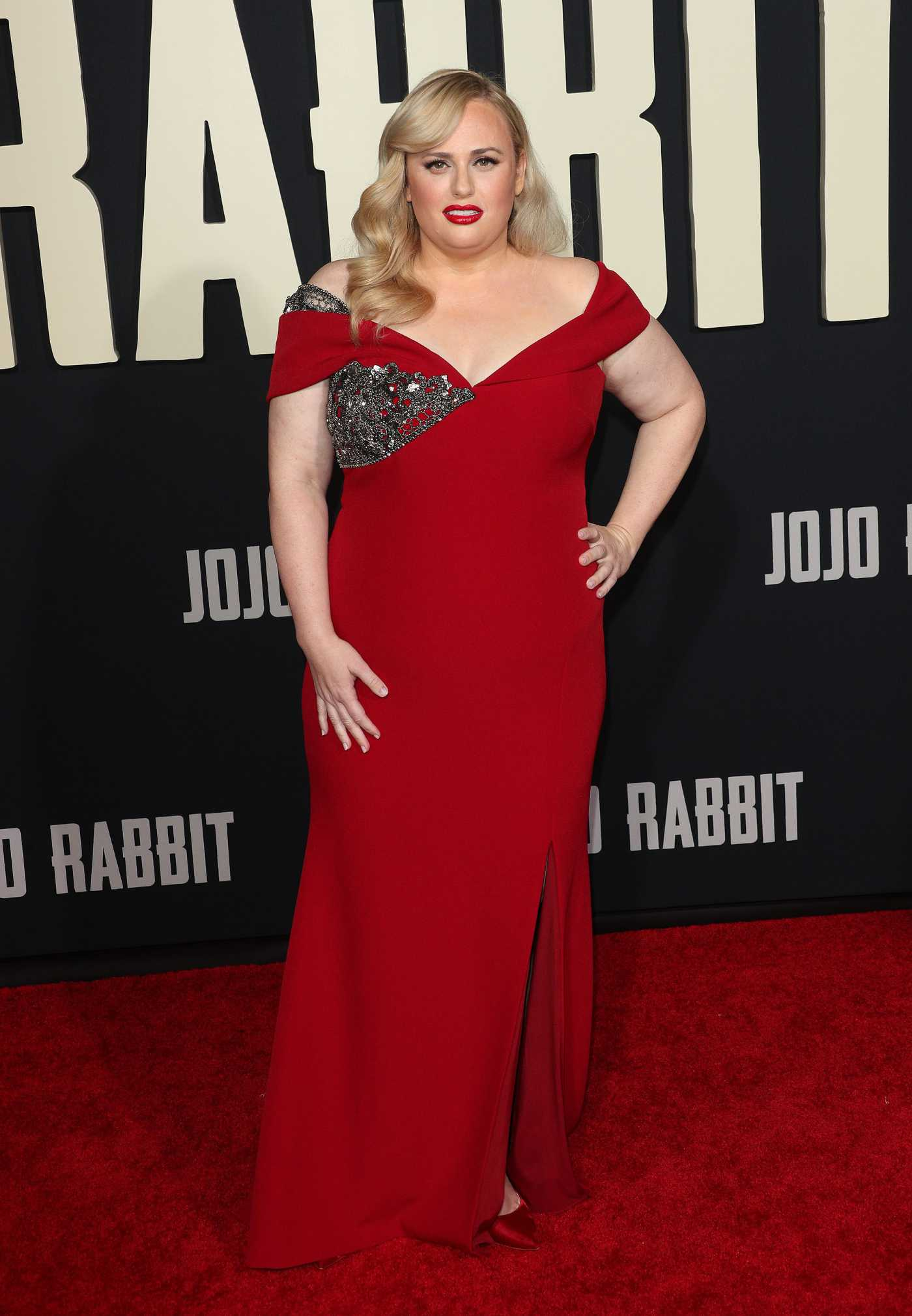 Rebel Wilson Attends Jojo Rabbit Premiere in Los Angeles 10/15/2019