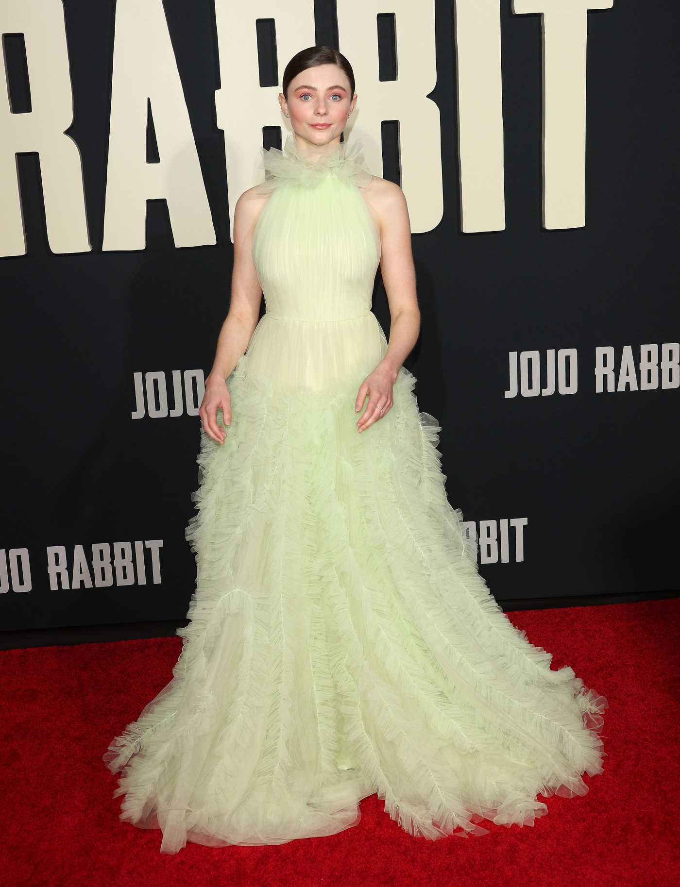 Thomasin McKenzie Attends Jojo Rabbit Premiere in Los Angeles 10/15/2019