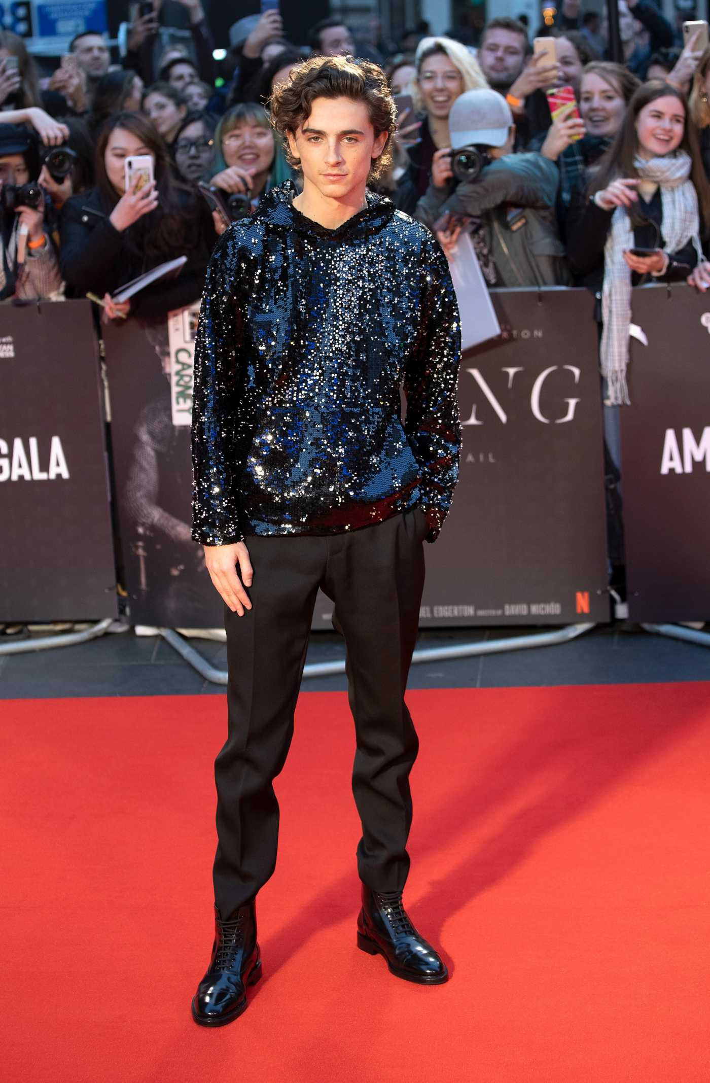 Timothee Chalamet Attends The King Premiere During the 63rd BFI London Film Festival in London 10/03/2019