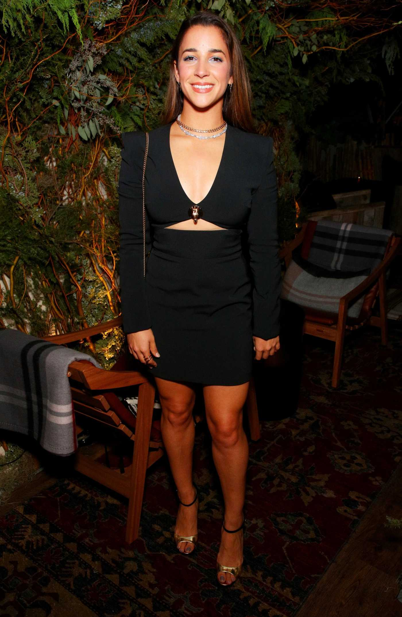 Aly Raisman Attends Bloomingdales Celebrates David Koma's 10th Anniversary in New York 10/30/2019