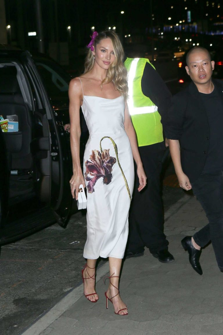 Candice Swanepoel in a White Dress