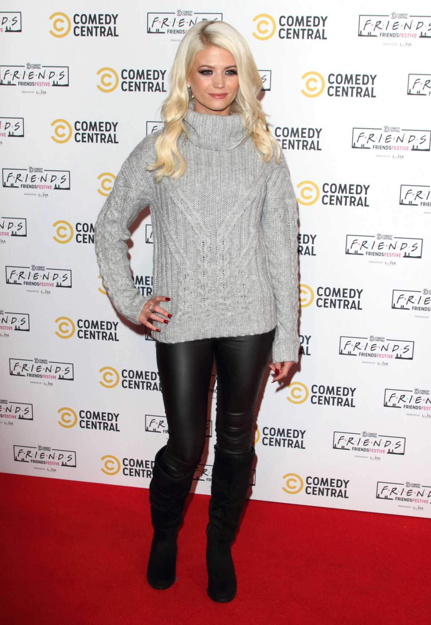 Danielle Harold Attends the Comedy Central Friends Festive Exhibition Launch in London 11/28/2019