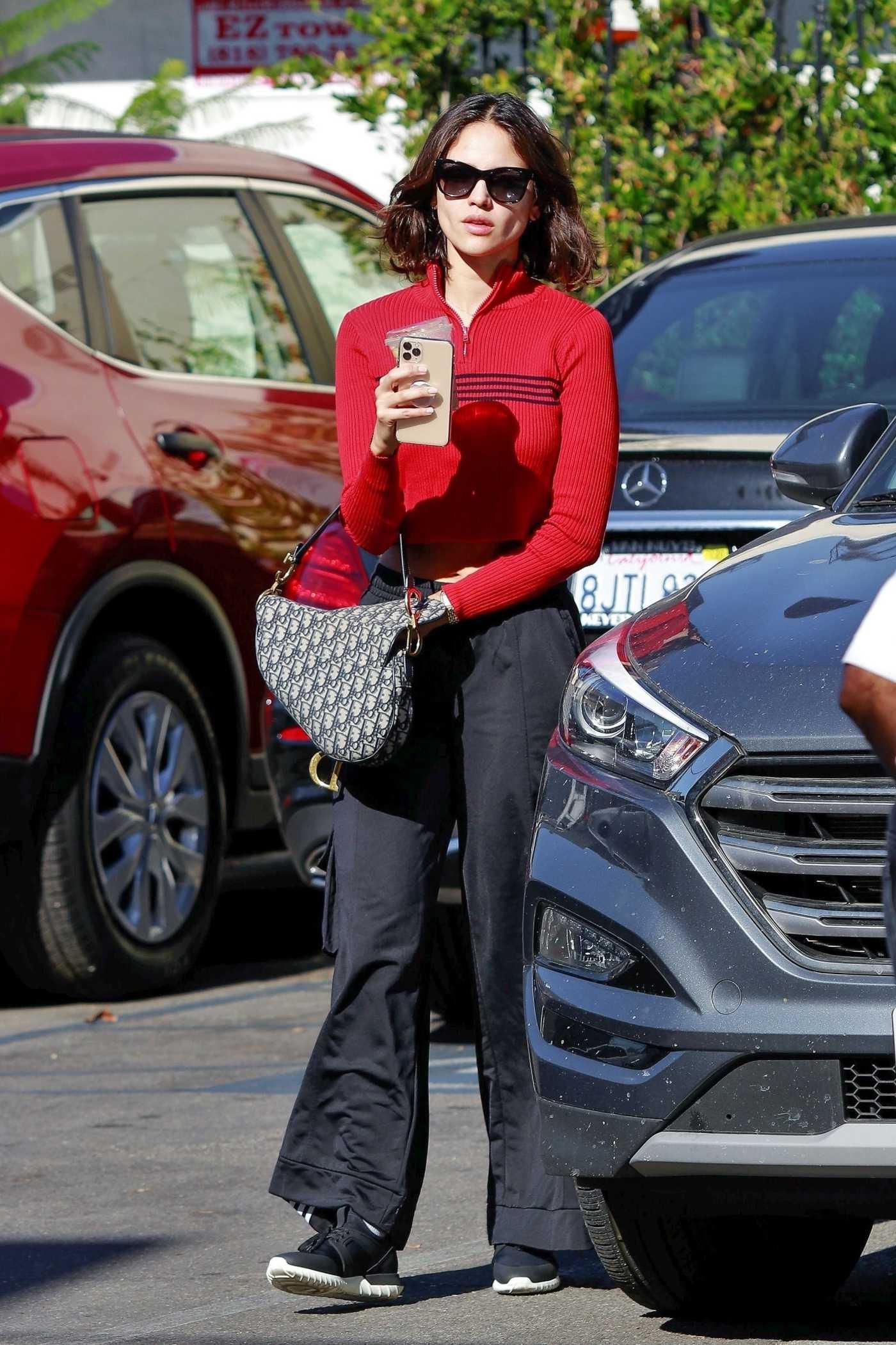 Eiza Gonzalez in a Red Sweater Was Seen Out in LA 11/22/2019