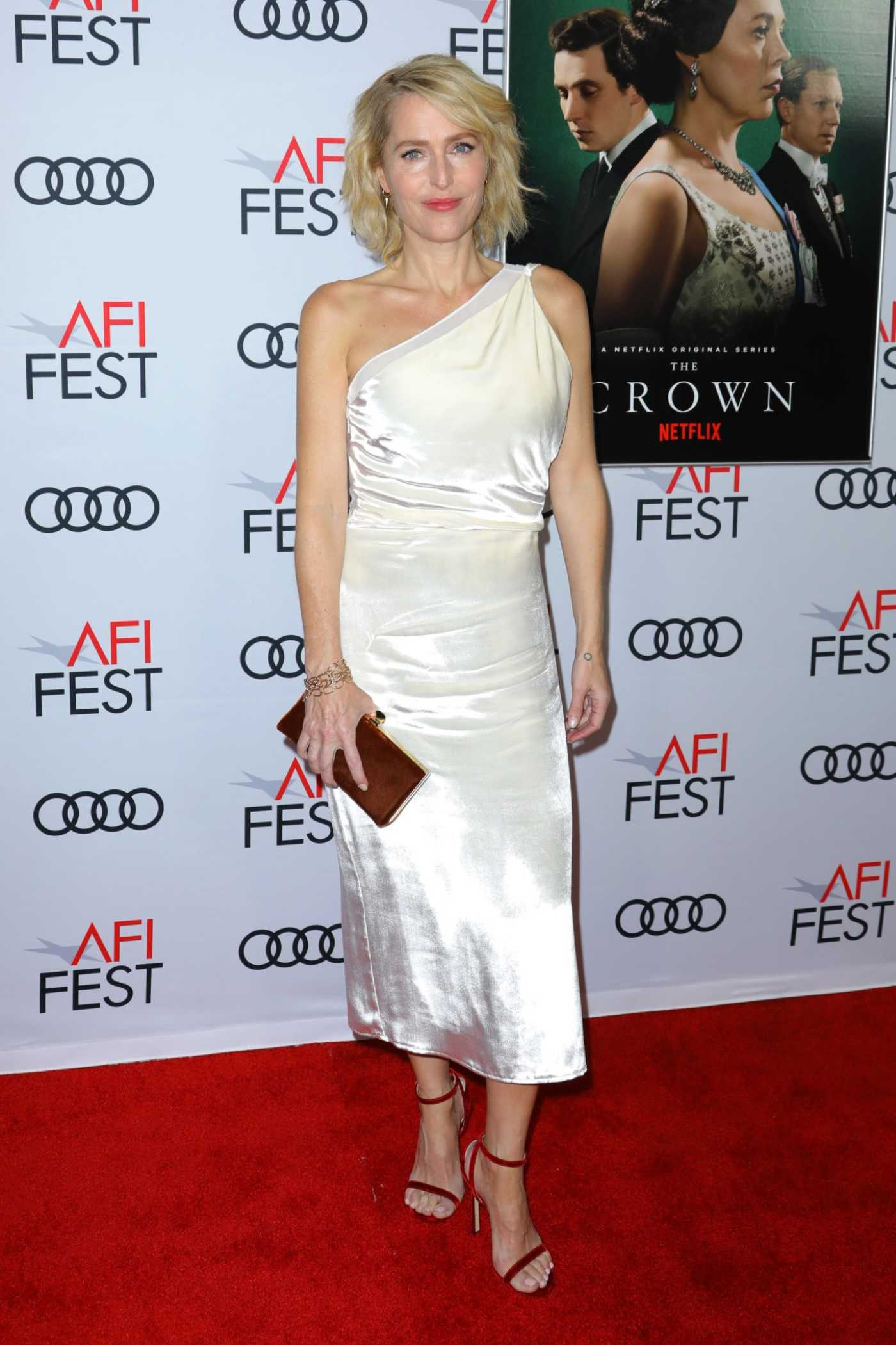 Gillian Anderson Attends The Crown AFI Gala Screening in Hollywood 11/16/2019