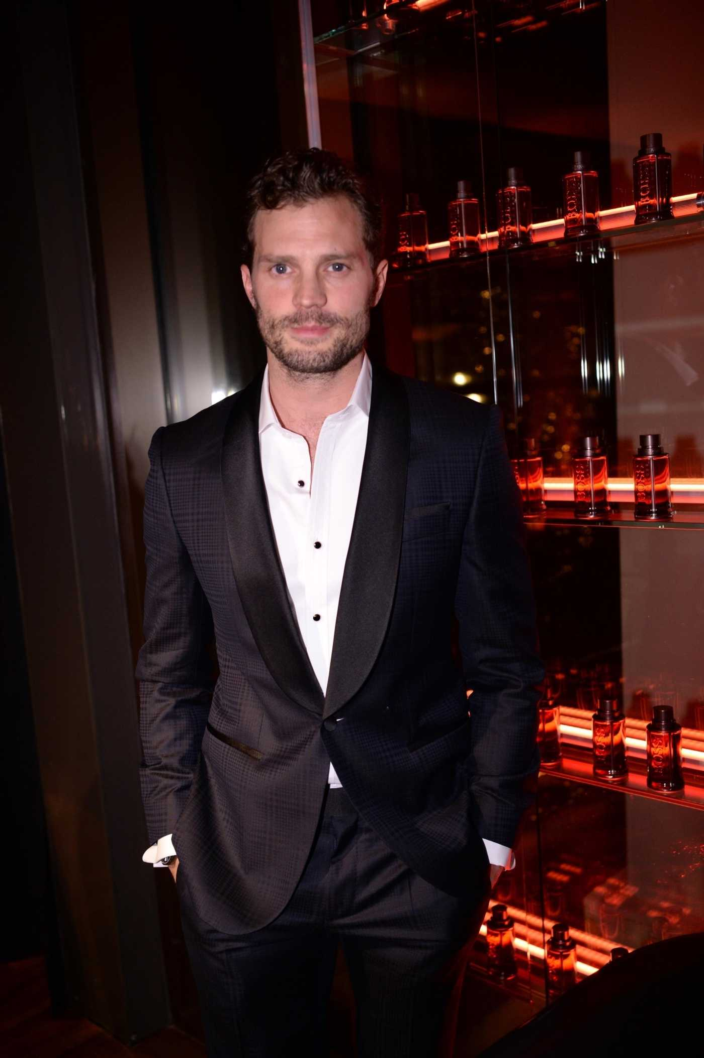 Jamie Dornan Attends the Boss The Scent Absolute Launch Party at the Mandarin Oriental in Paris 11/13/2019