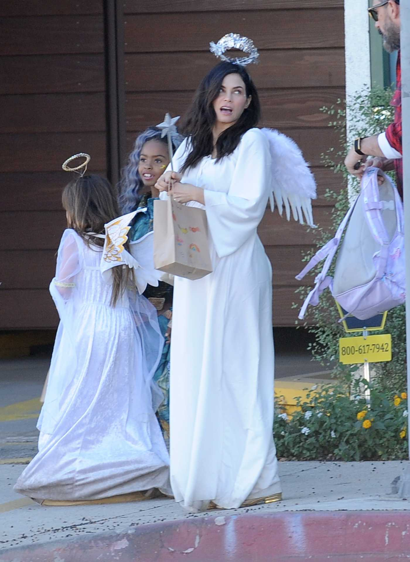 Jenna Dewan Dressed as an Angel Was Seen Out in Los Angeles 10/31/2019