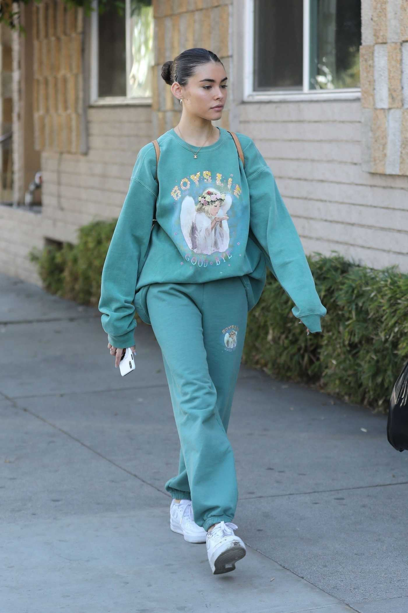 Madison Beer in a White Sneakers Was Seen Out in West Hollywood 11/24/2019