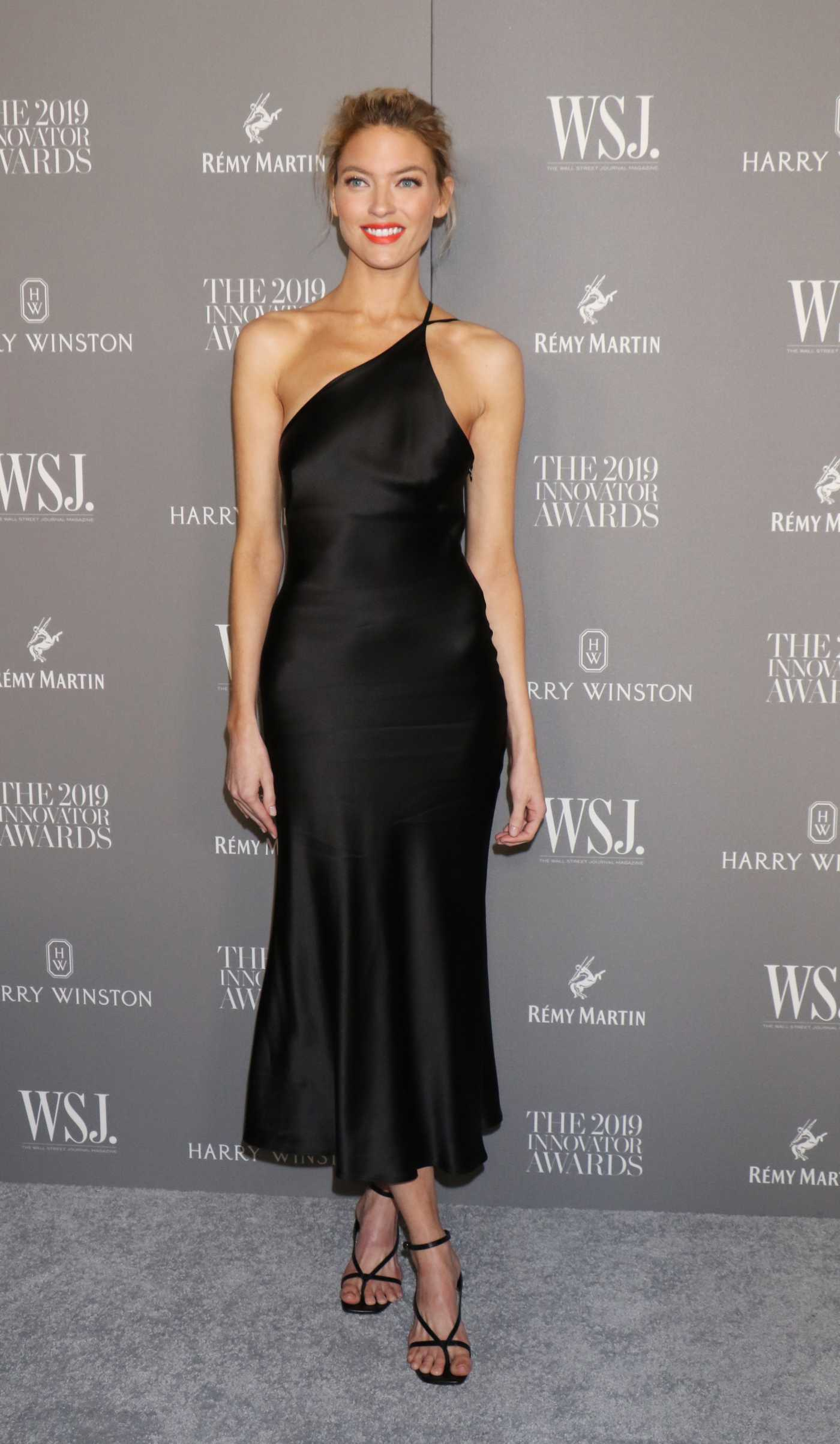 Martha Hunt Attends 2019 WSJ Innovators Awards Red Carpet at Moma in NY 11/06/2019