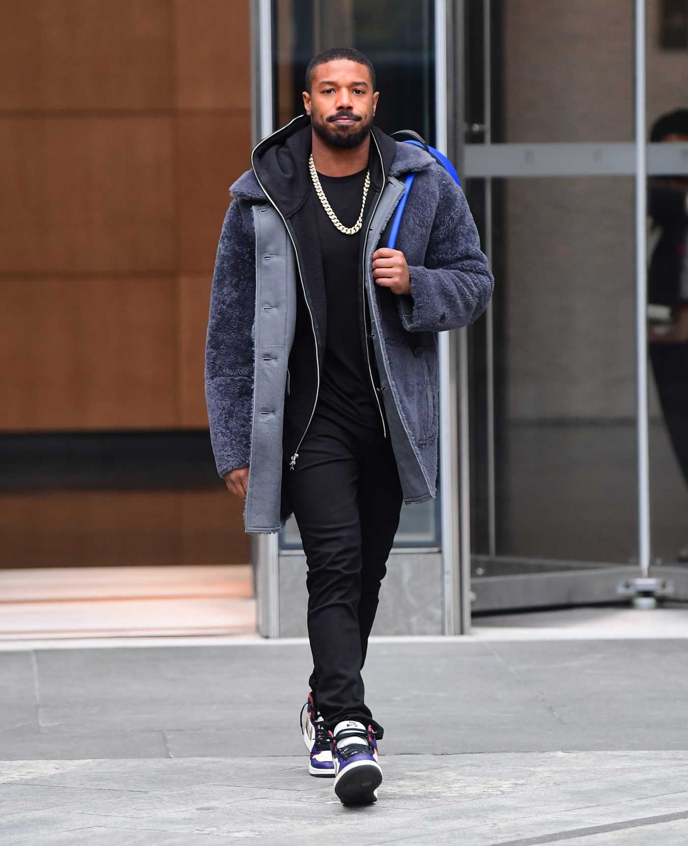 Michael B Jordan in a Black Pants Was Seen Out in New York 11/17/2019