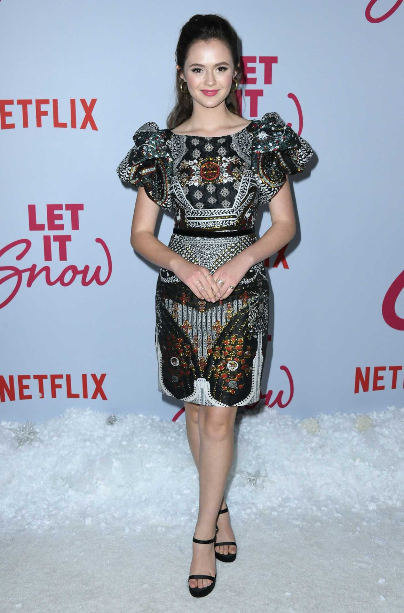 Olivia Sanabia Attends Netflix's Let It Snow Premiere in Los Angeles 11/04/2019