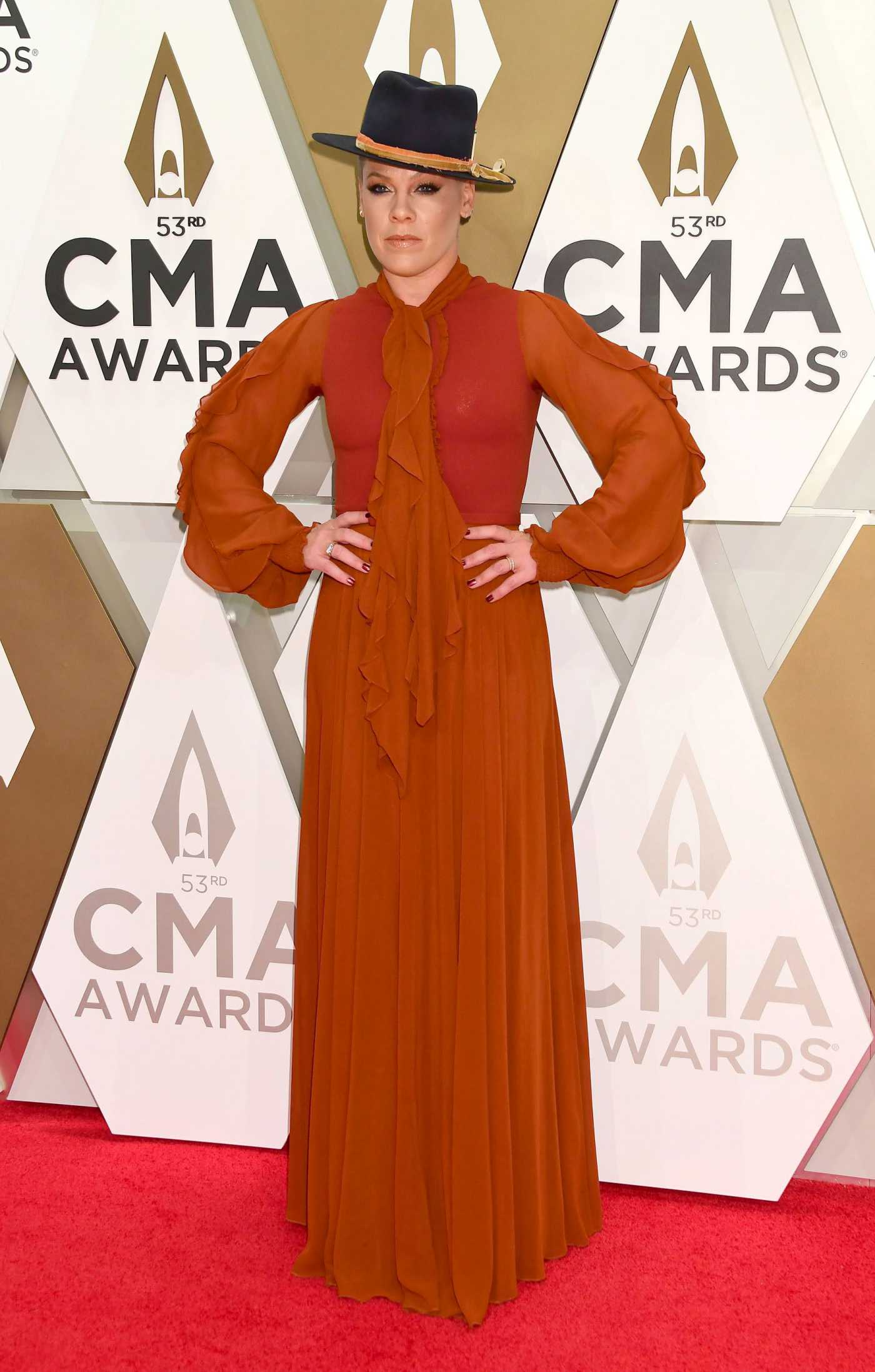 Pink Attends the 53rd annual CMA Awards at the Music City Center in Nashville 11/13/2019