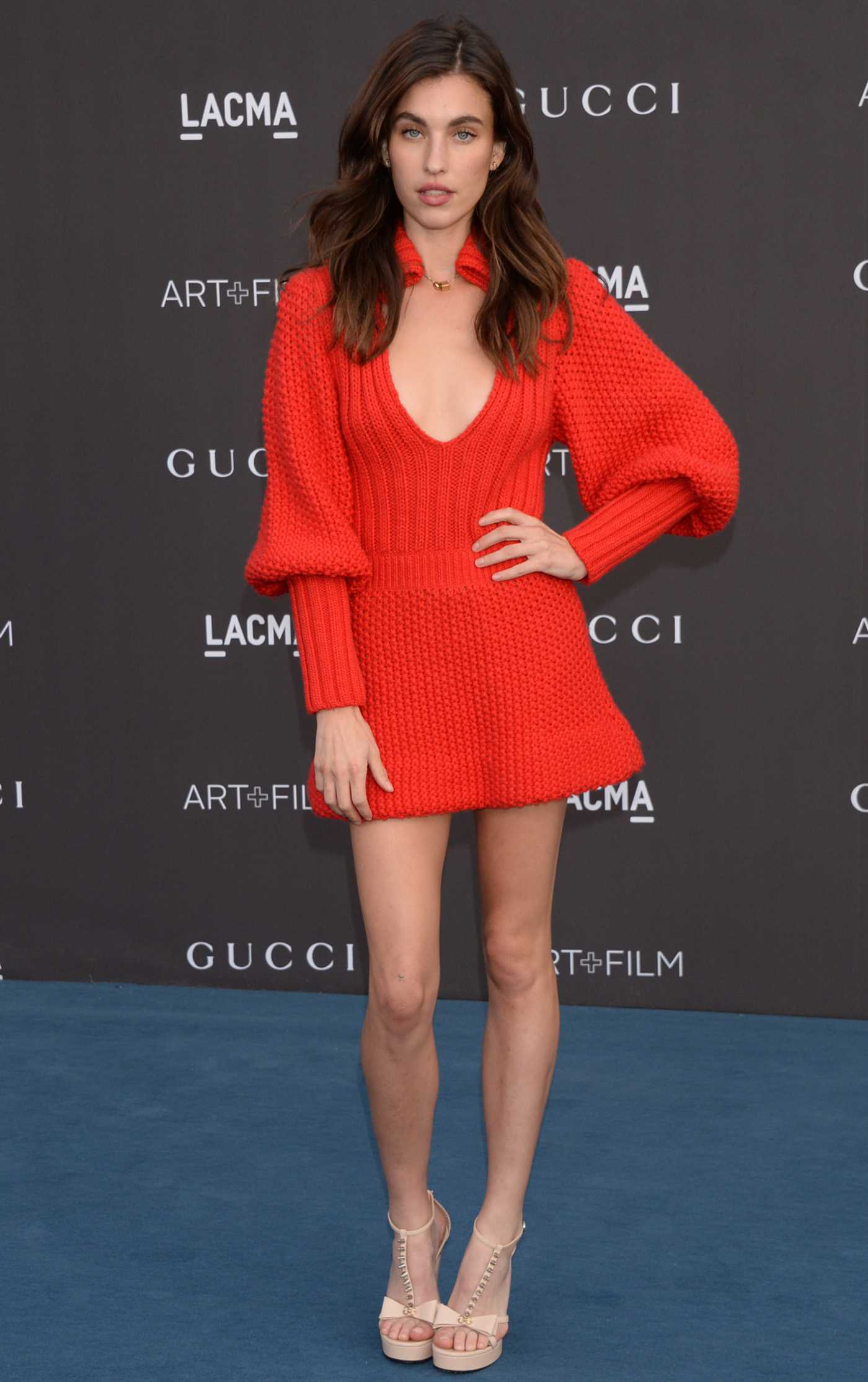 Rainey Qualley Attends 2019 LACMA Art and Film Gala Honoring Betye Saar And Alfonso Cuaron Presented By Gucci in Los Angeles 11/02/2019