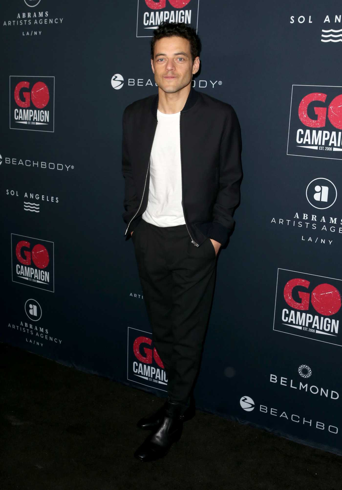 Rami Malek Attends GO Campaign's 13th Annual Gala at NeueHouse in Hollywood 11/16/2019