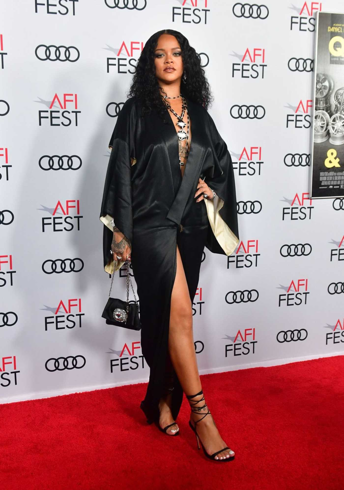 Rihanna Attends the Queen and Slim Premiere at AFI Fest in Hollywood 11/14/2019