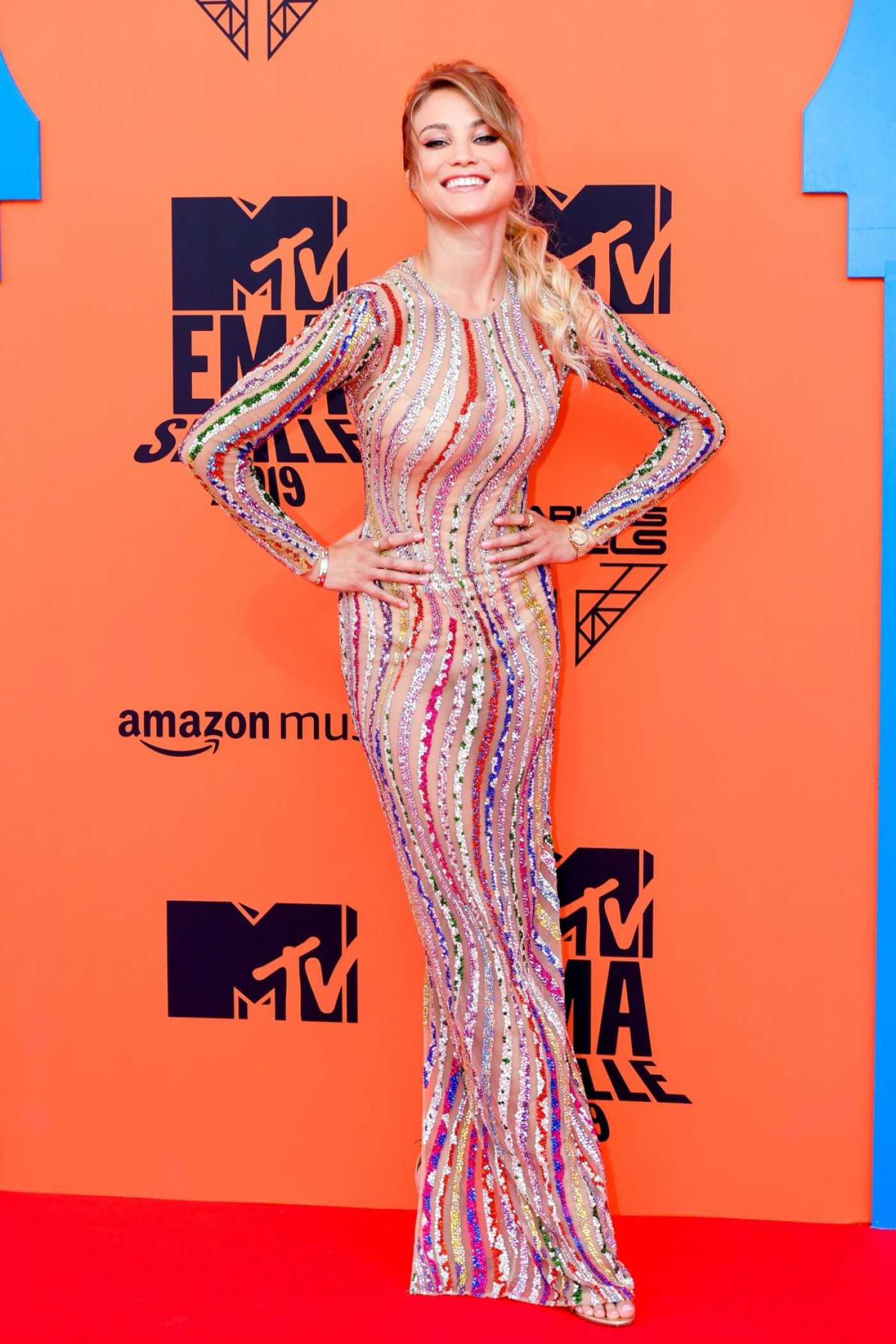Rose Bertram Attends MTV Europe Music Awards in Seville 11/03/2019