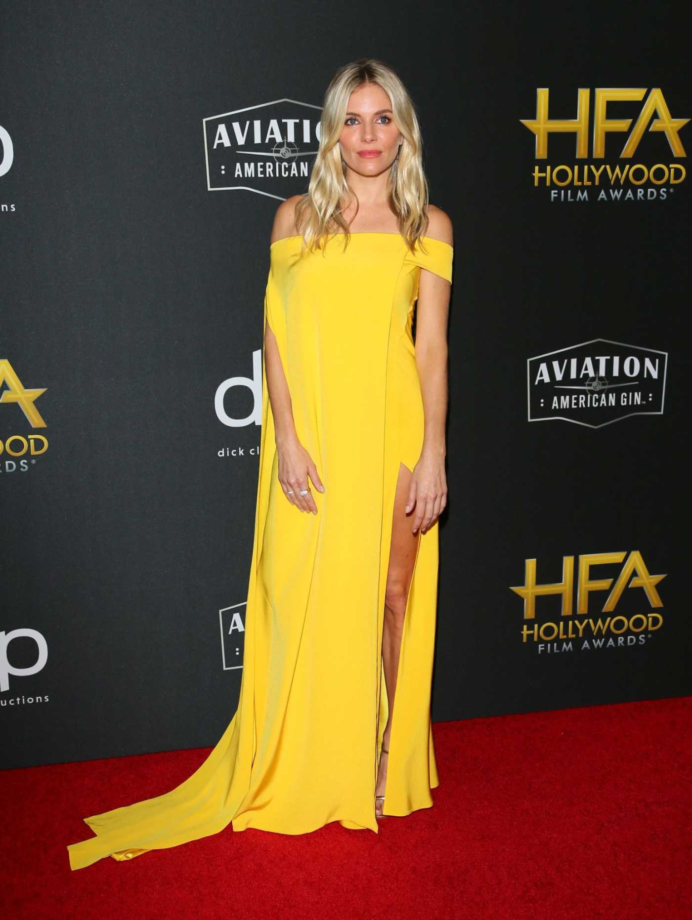 Sienna Miller Attends the 23rd Annual Hollywood Film Awards at The Beverly Hilton Hotel in Beverly Hills 11/03/2019