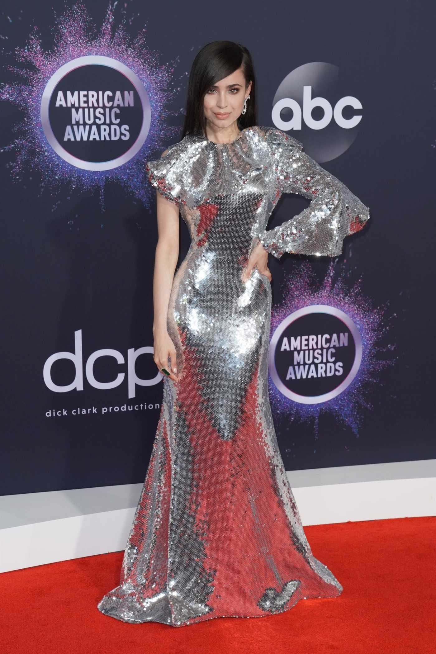 Sofia Carson Attends the 2019 American Music Awards at Microsoft Theater in Los Angeles 11/24/2019