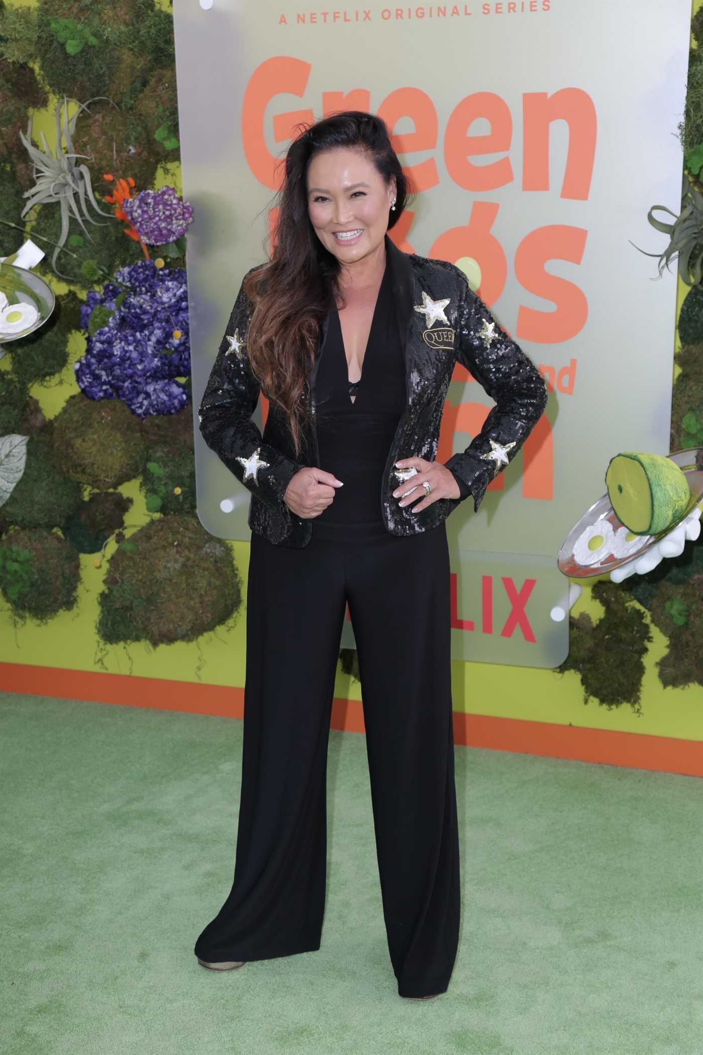 Tia Carrere Attends Netflix's Green Eggs and Ham Premiere at Hollywood American Legion in Los Angeles 11/03/2019