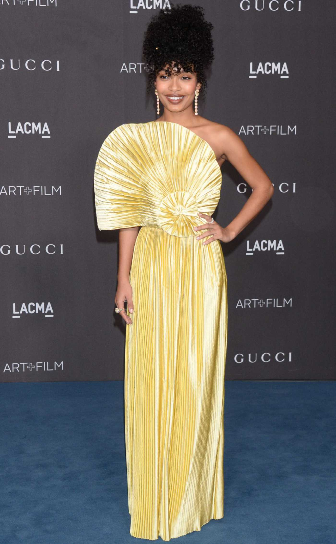 Yara Shahidi Attends 2019 LACMA Art and Film Gala Honoring Betye Saar And Alfonso Cuaron Presented By Gucci in Los Angeles 11/02/2019