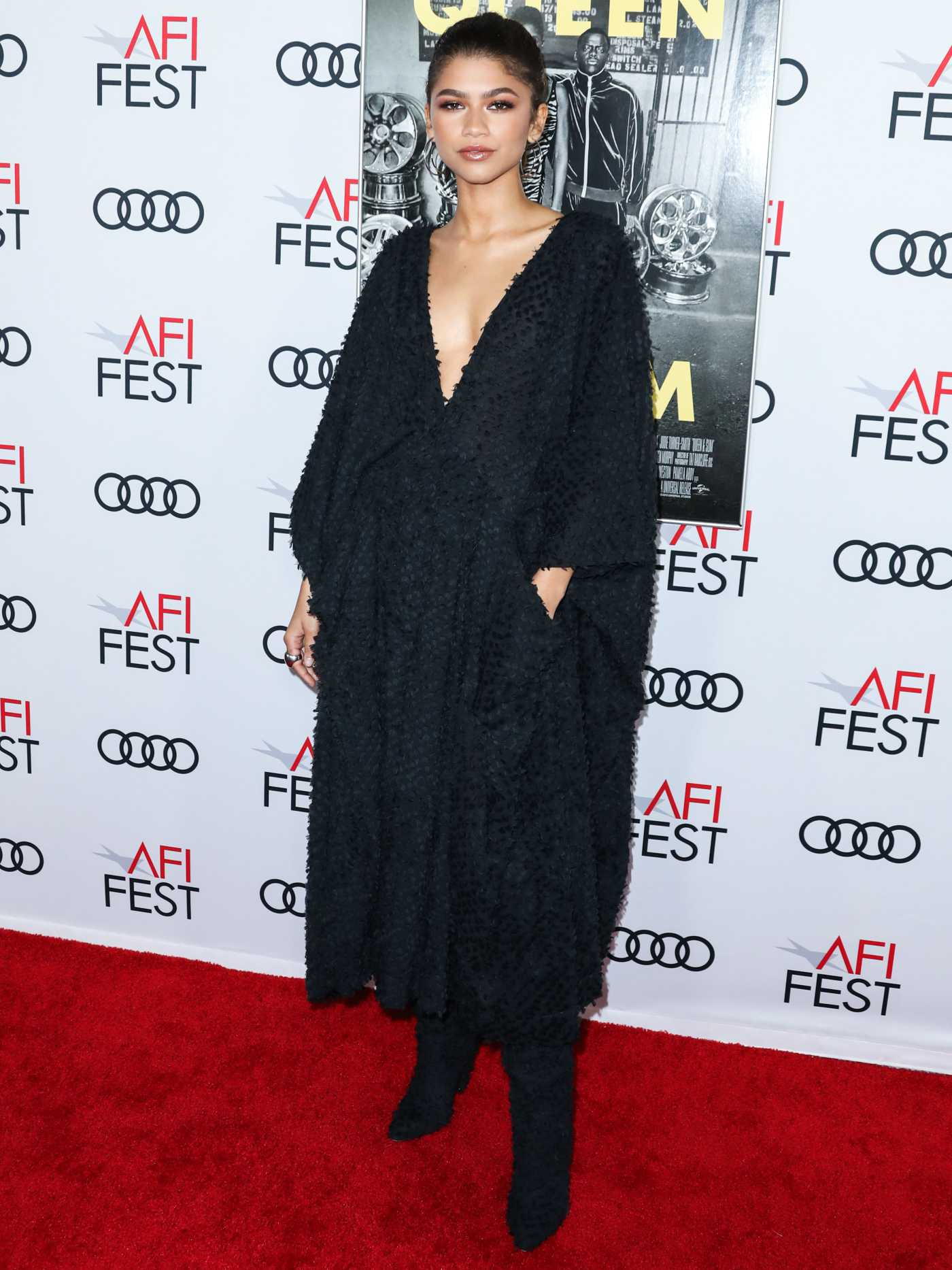 Zendaya Attends the Queen and Slim Premiere at AFI Fest in Hollywood 11/14/2019