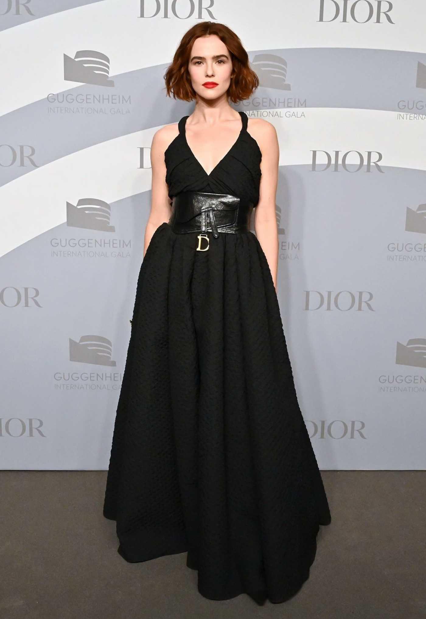 Zoey Deutch Attends 2019 Guggenheim International Gala in New York 11/13/2019