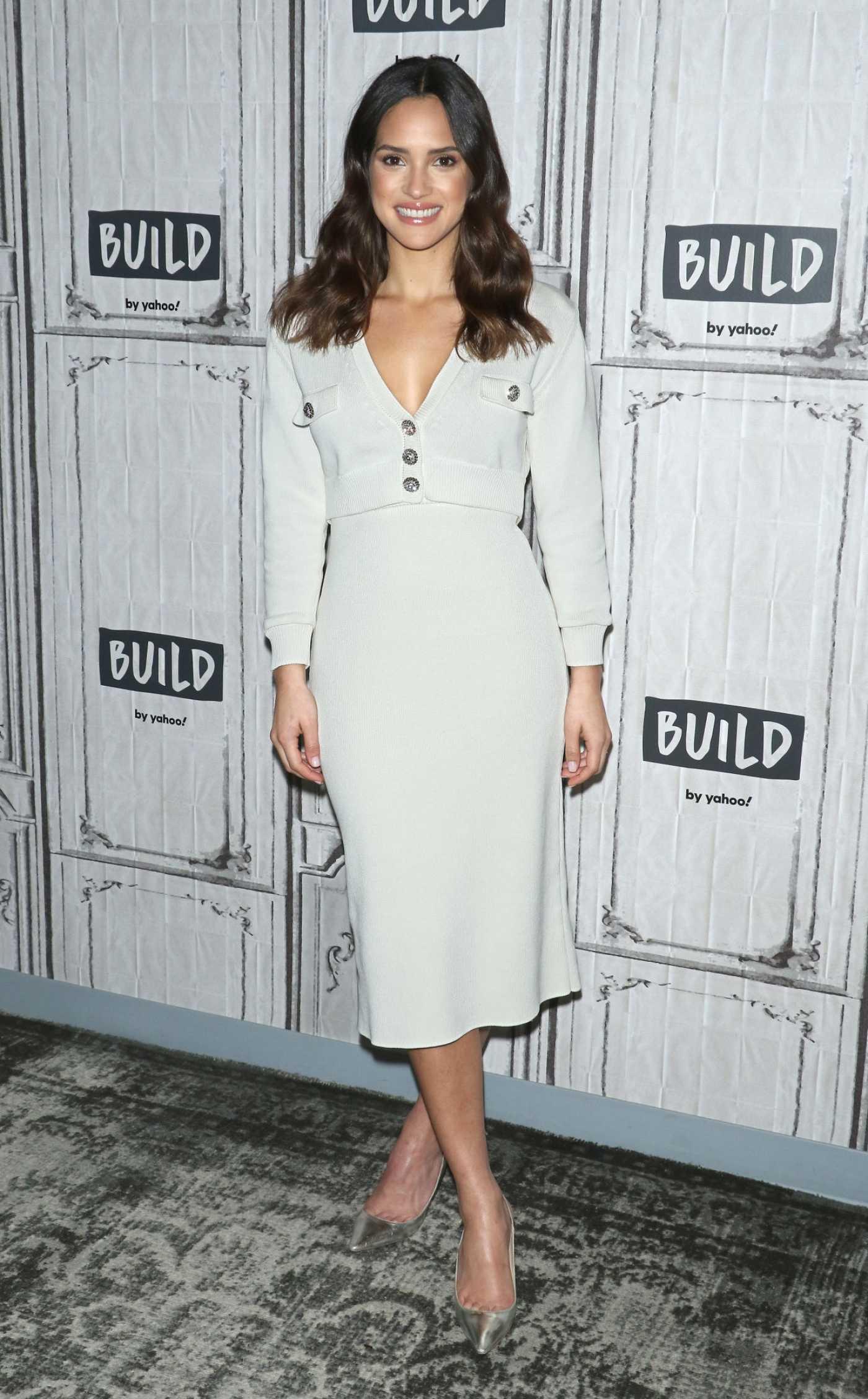 Adria Arjona Attends the Build Series in New York City 12/11/2019